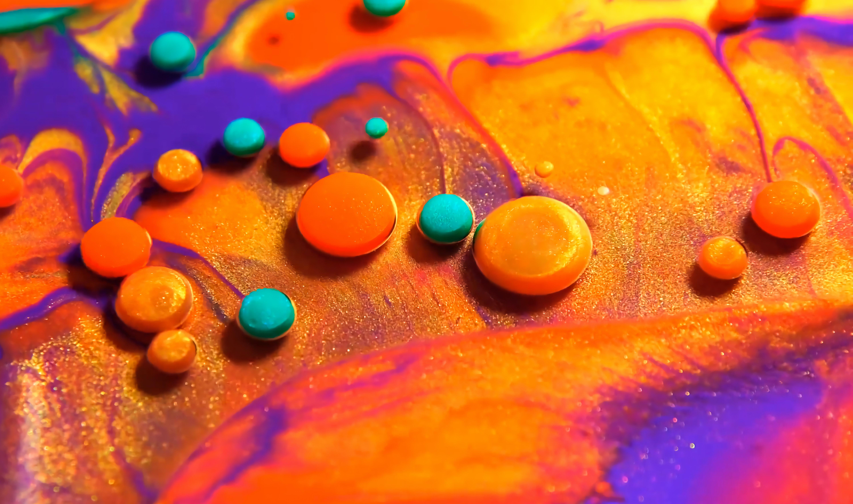 112223 скачать обои Абстракция, Круг, Краска, Разводы, Разноцветный, Объем - заставки и картинки бесплатно