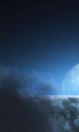 13270 télécharger le fond d'écran Animaux, Paysage, Oiseaux, Sky, Nuit, Nuages, Lune - économiseurs d'écran et images gratuitement