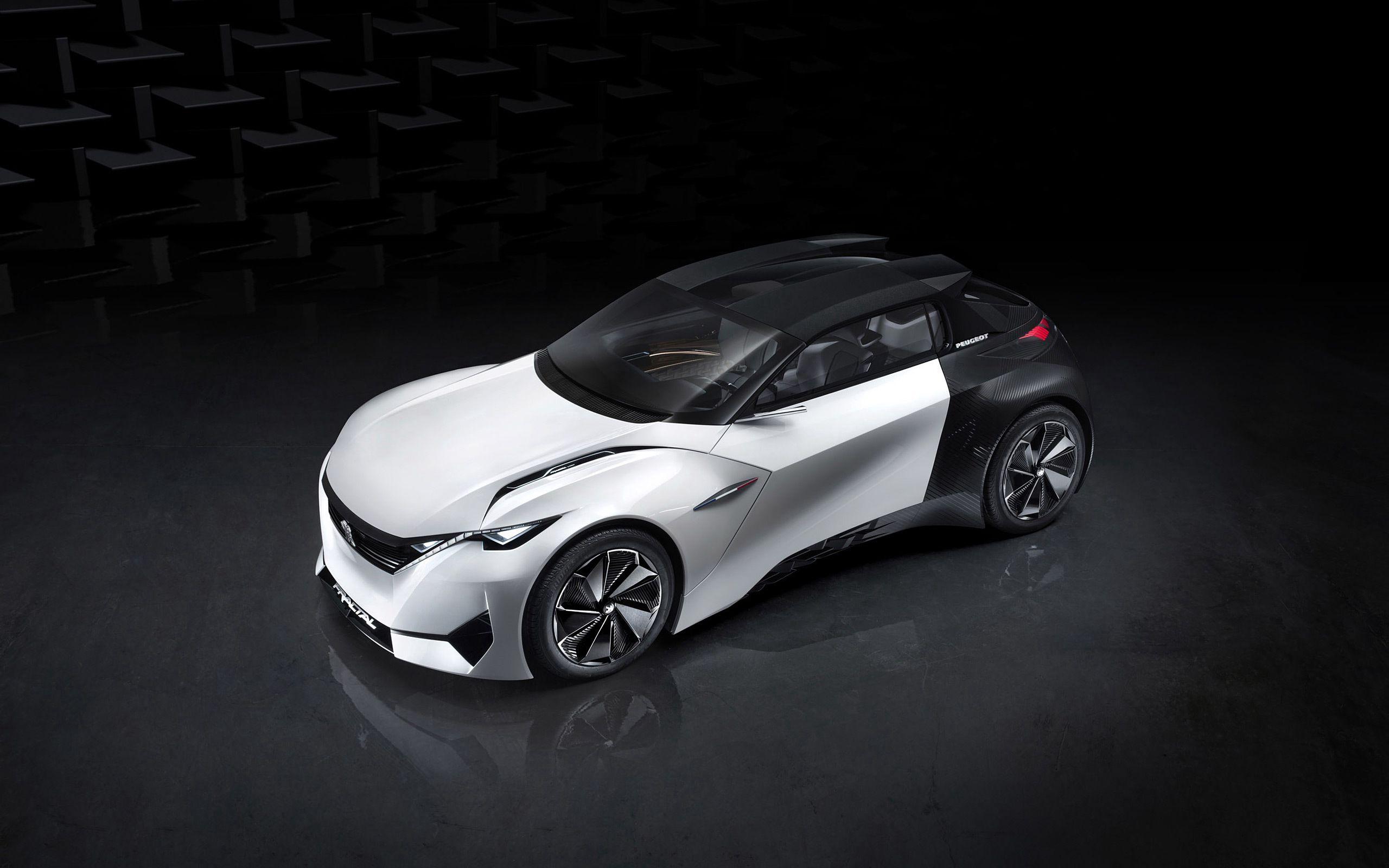 111241 скачать обои Пежо (Peugeot), Тачки (Cars), Вид Сверху, Концепт, Fractal - заставки и картинки бесплатно