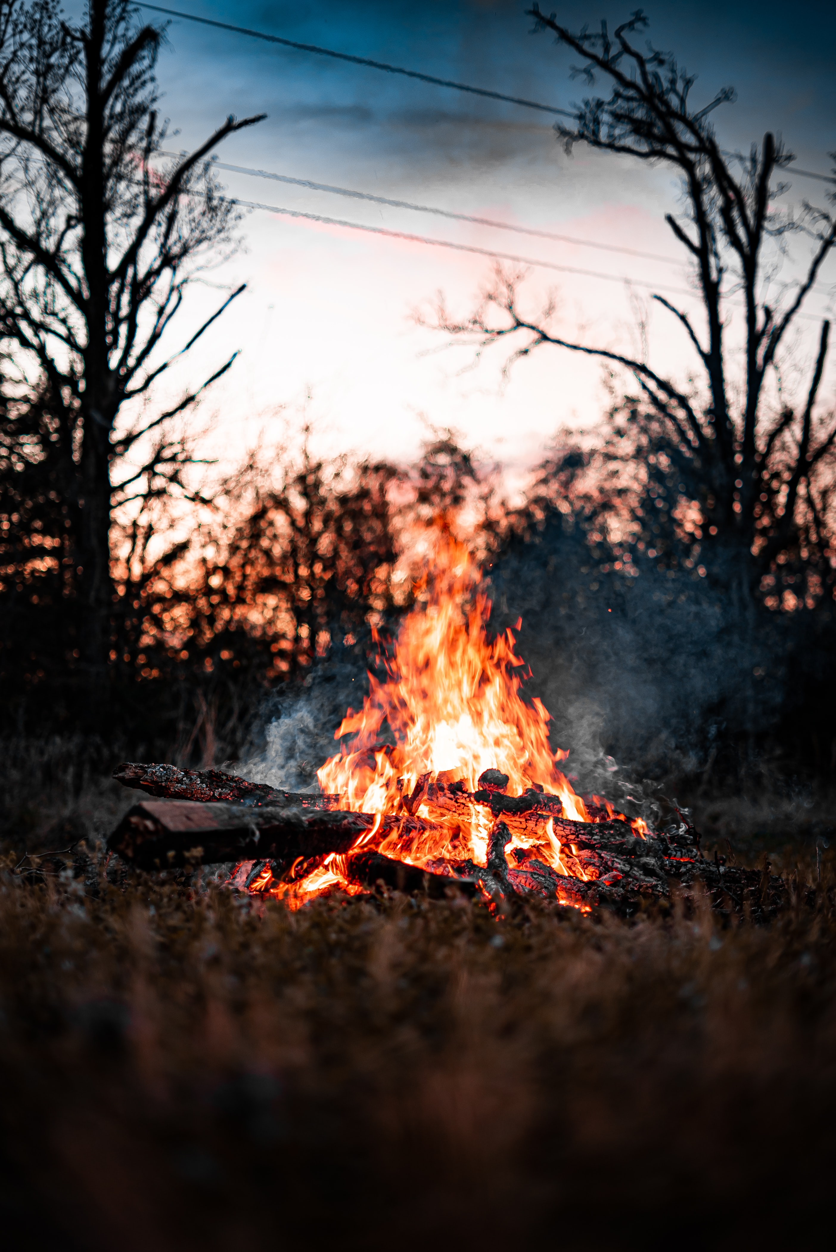 91746 Screensavers and Wallpapers Bonfire for phone. Download Smoke, Bonfire, Miscellanea, Miscellaneous, Firewood pictures for free