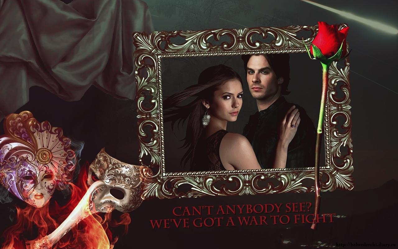 41354 скачать обои Кино, Фон, Розы, Маски, Дневники Вампира (The Vampire Diaries) - заставки и картинки бесплатно