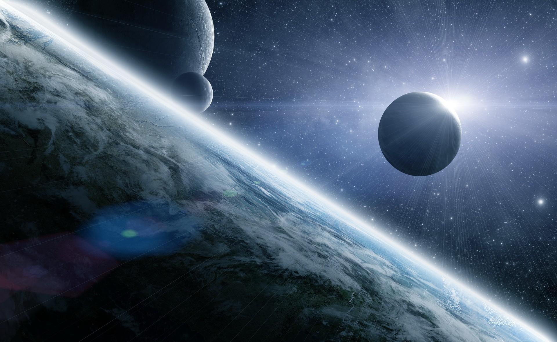 144795 télécharger le fond d'écran Planètes, Univers, Etoiles, Briller, Lumière, Poutres, Rayons - économiseurs d'écran et images gratuitement