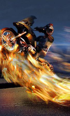 13225 descargar fondo de pantalla Transporte, Fuego, Fotografía Artística, Motocicletas: protectores de pantalla e imágenes gratis