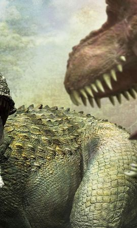 120619 baixar papel de parede Fantasia, Cair, Boca, Presas, Agressão, Dinossauros - protetores de tela e imagens gratuitamente