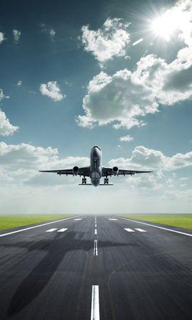 27276 скачать обои Транспорт, Небо, Облака, Самолеты - заставки и картинки бесплатно