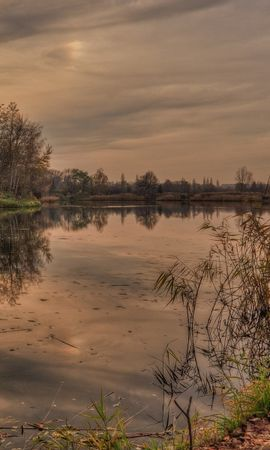21974 скачать обои Пейзаж, Река, Деревья, Закат - заставки и картинки бесплатно