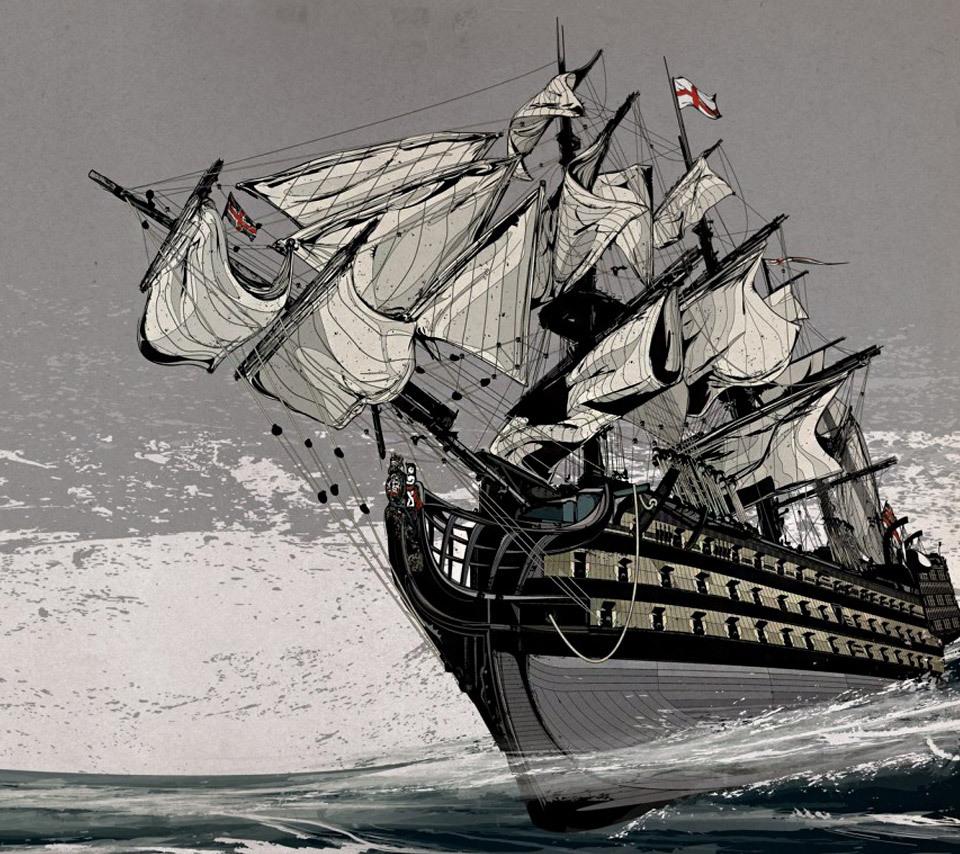 16144 скачать обои Транспорт, Корабли, Рисунки - заставки и картинки бесплатно