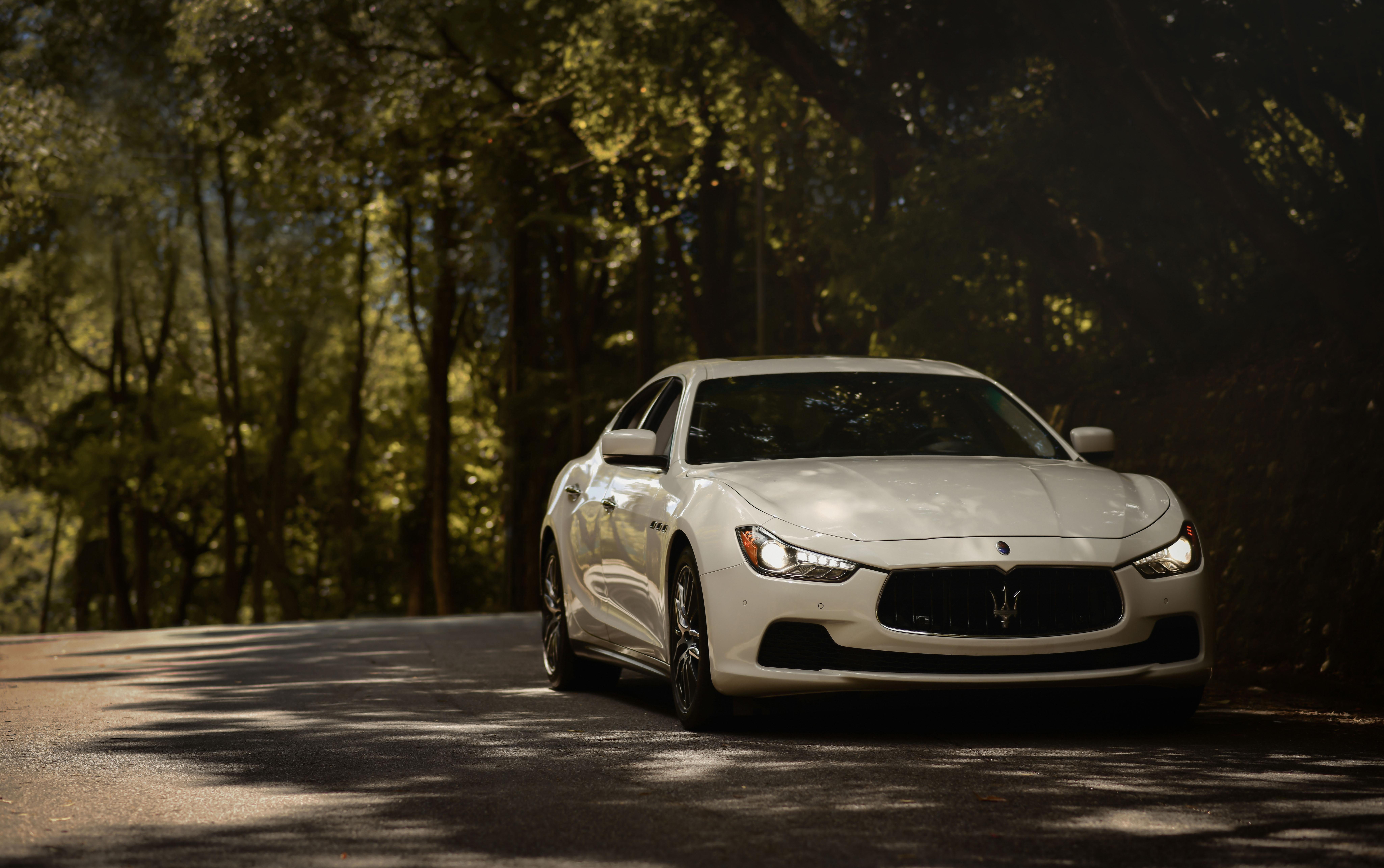 115682 Hintergrundbild herunterladen Auto, Maserati, Cars, Straße, Vorderansicht, Frontansicht, Maschine, Maserati Ghibli - Bildschirmschoner und Bilder kostenlos