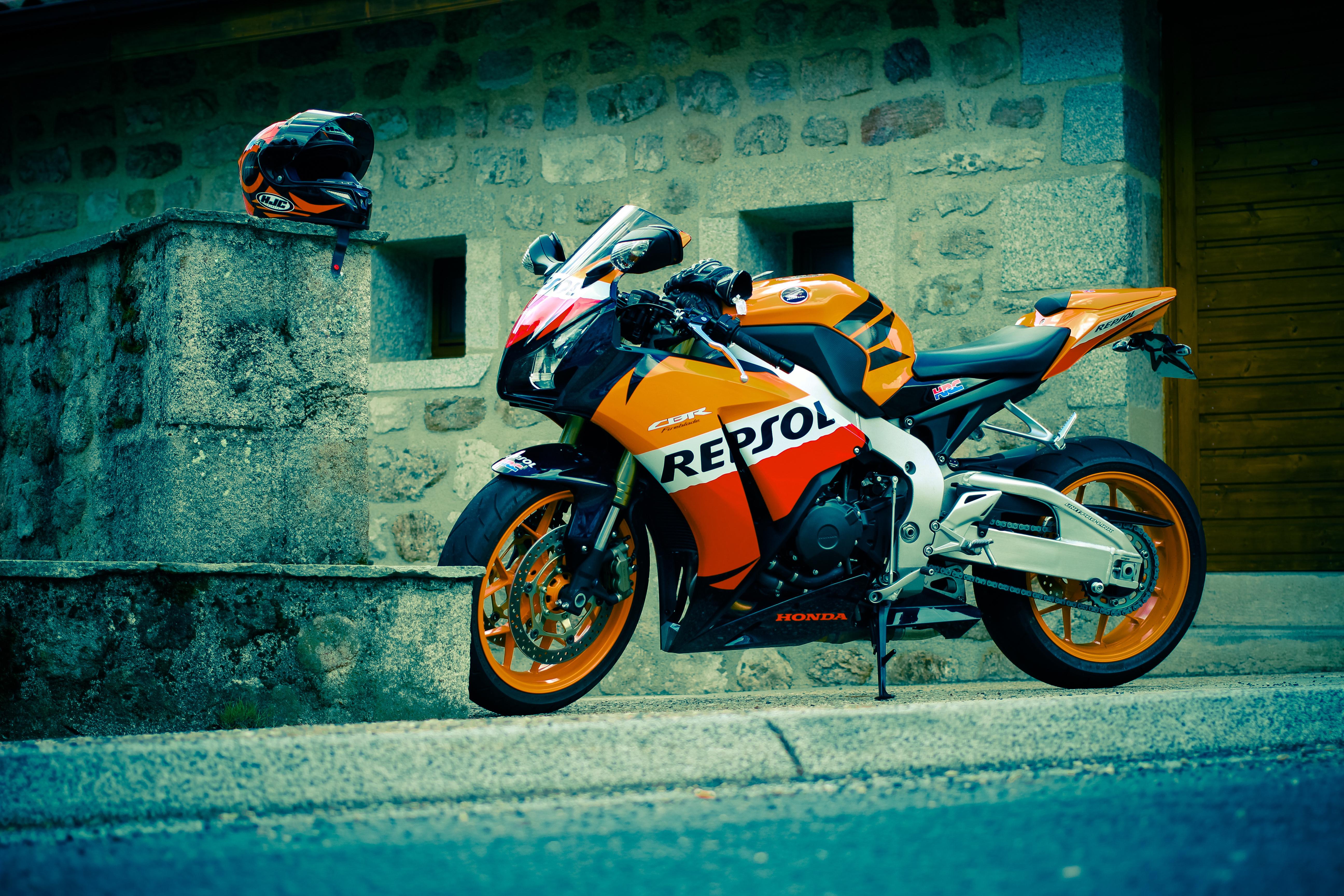 150791 Hintergrundbild herunterladen Honda, Motorräder, Das Schwarze, Cbr, Fireblade, Feuerschwert, Repsol - Bildschirmschoner und Bilder kostenlos