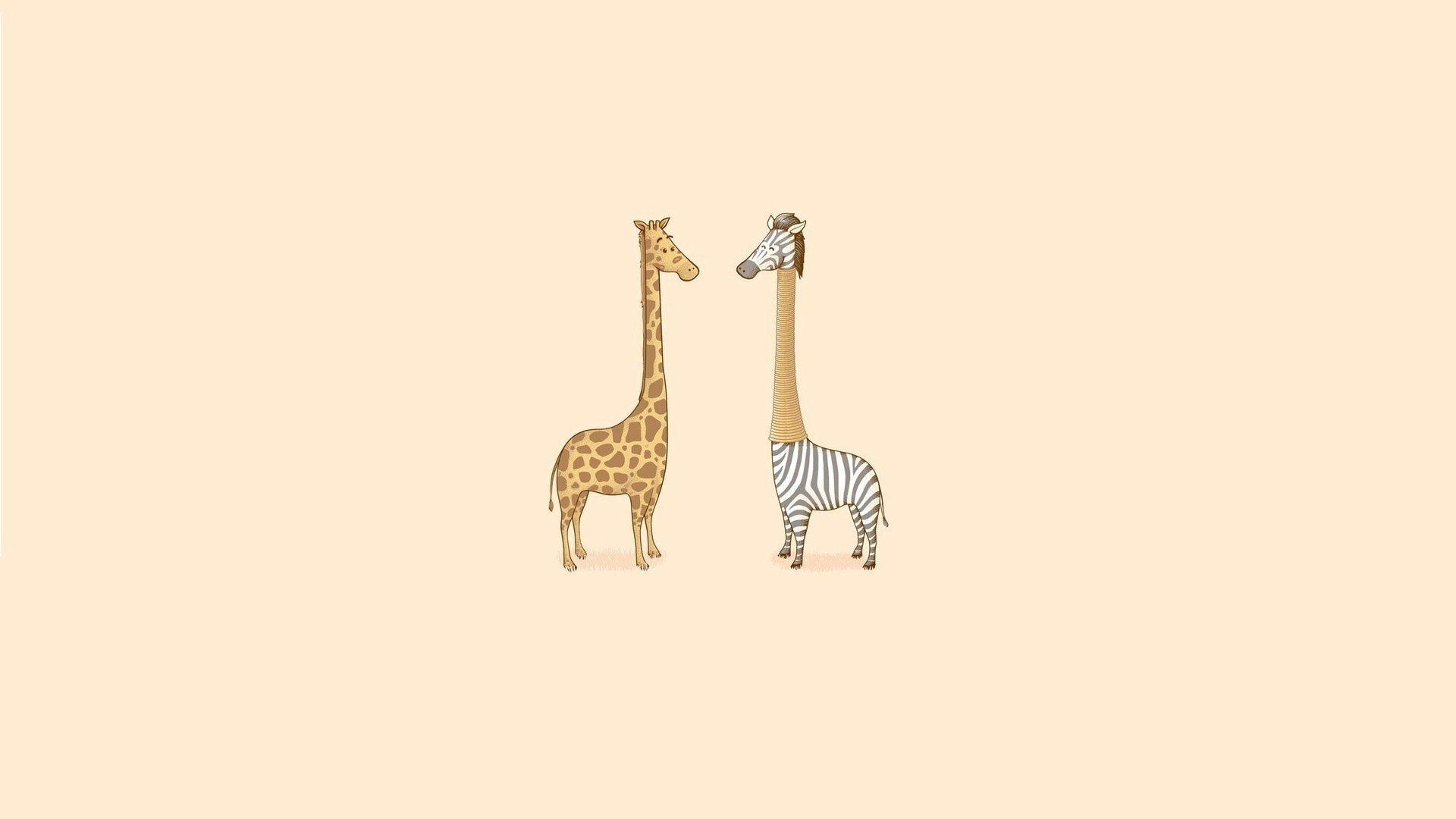 135688 Bildschirmschoner und Hintergrundbilder Humor auf Ihrem Telefon. Laden Sie Humor, Kunst, Lara Croft: Tomb Raider, Vektor, Minimalismus, Giraffe Bilder kostenlos herunter
