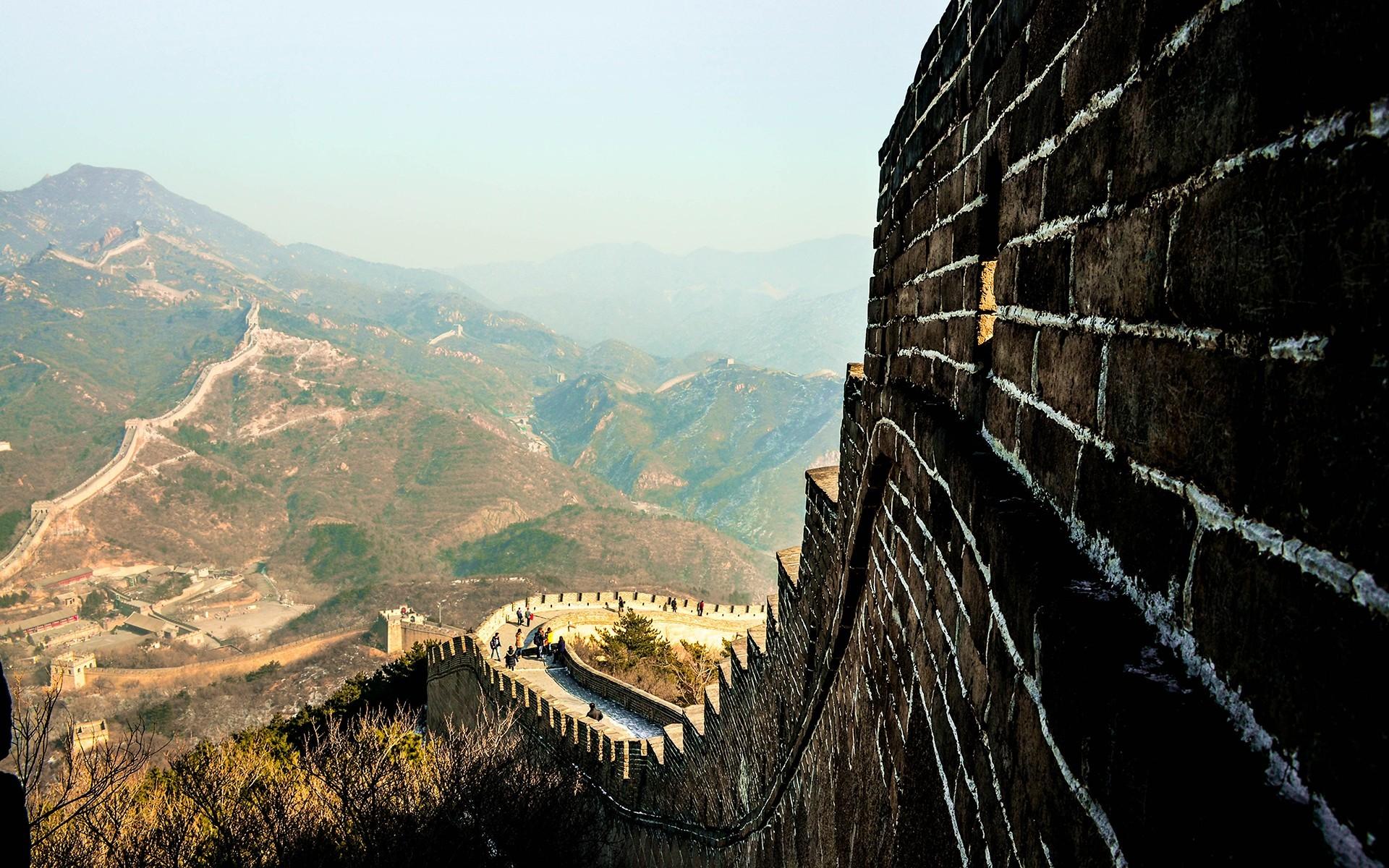 47965 fond d'écran 1080x2340 sur votre téléphone gratuitement, téléchargez des images La Grande Muraille De Chine, Paysage, Montagnes 1080x2340 sur votre mobile