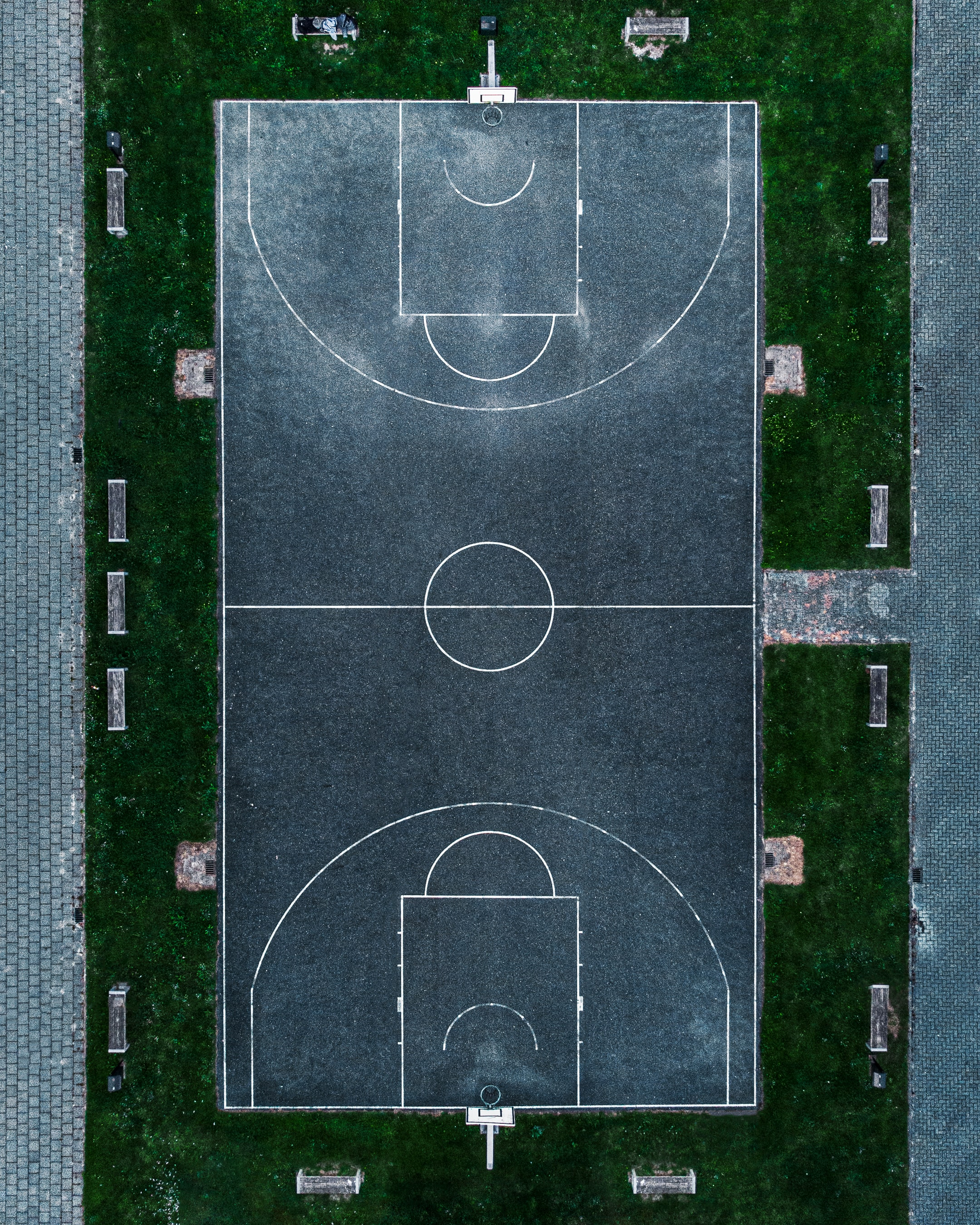 102485 Screensavers and Wallpapers Basketball for phone. Download Sports, Basketball Playground, Basketball Court, Playground, Platform, Basketball, View From Above pictures for free