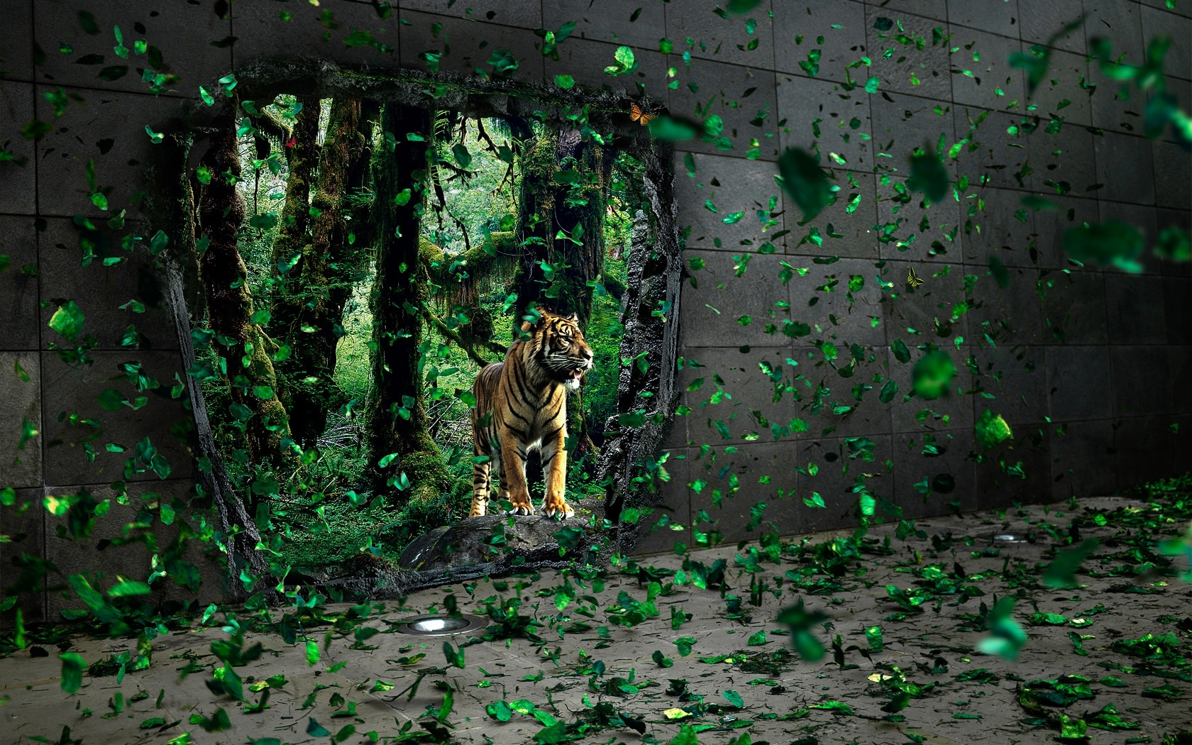 506 download wallpaper Animals, Art Photo, Tigers screensavers and pictures for free