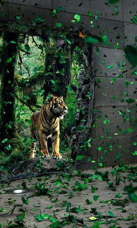 506 скачать обои Животные, Артфото, Тигры - заставки и картинки бесплатно