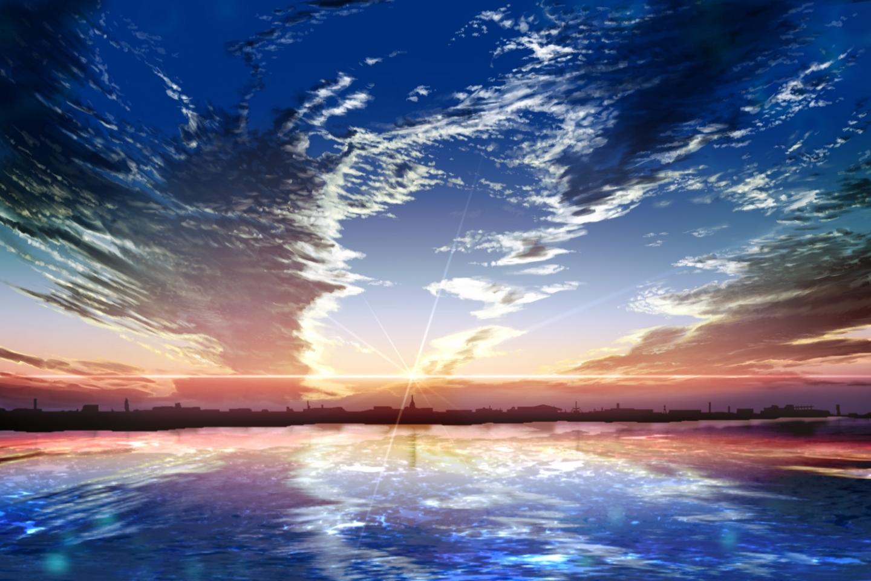 24599 скачать обои Пейзаж, Закат, Небо, Море, Облака - заставки и картинки бесплатно