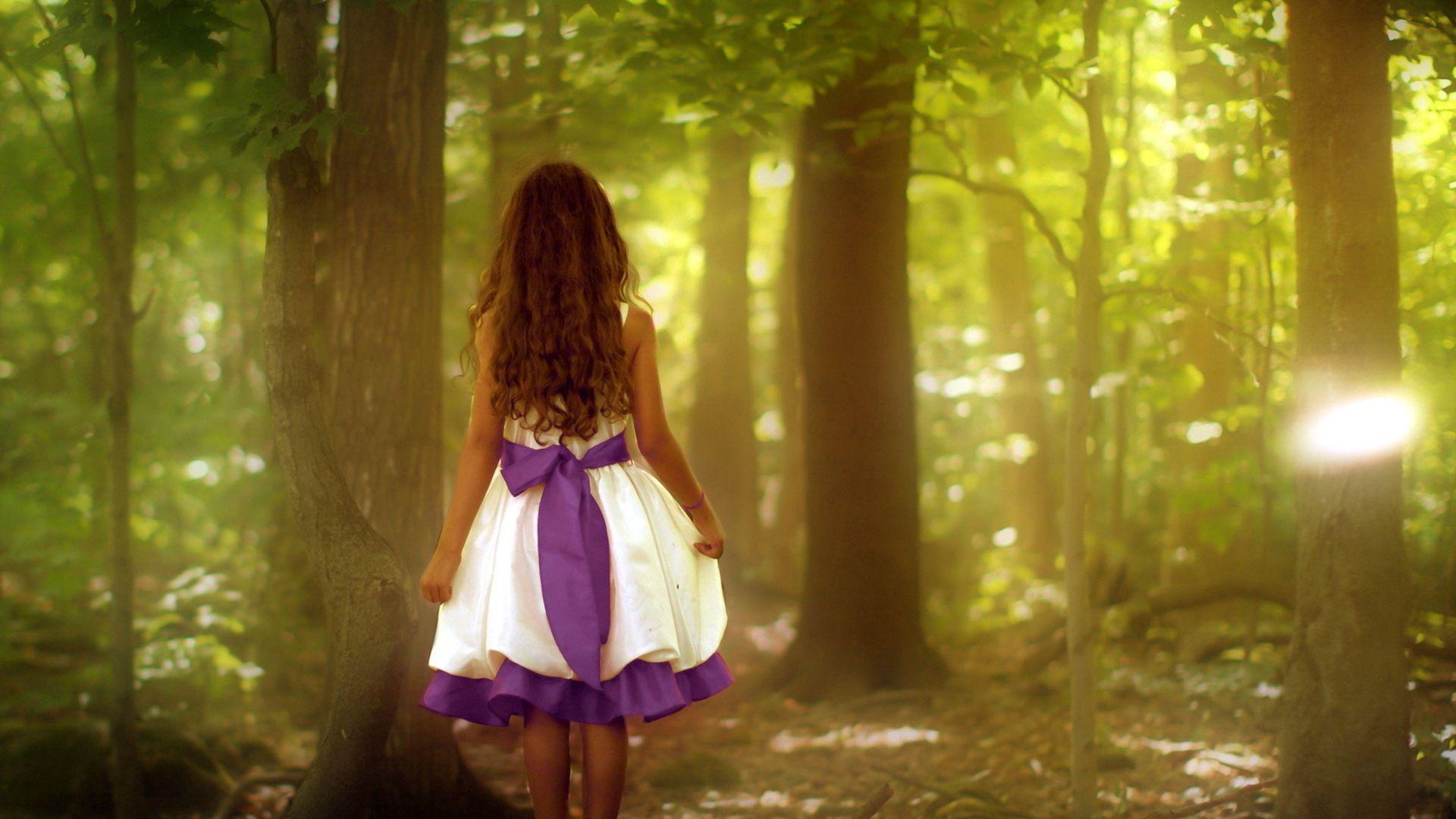 135559 скачать обои Разное, Девочка, Лес, Природа, Настроение, Стиль - заставки и картинки бесплатно