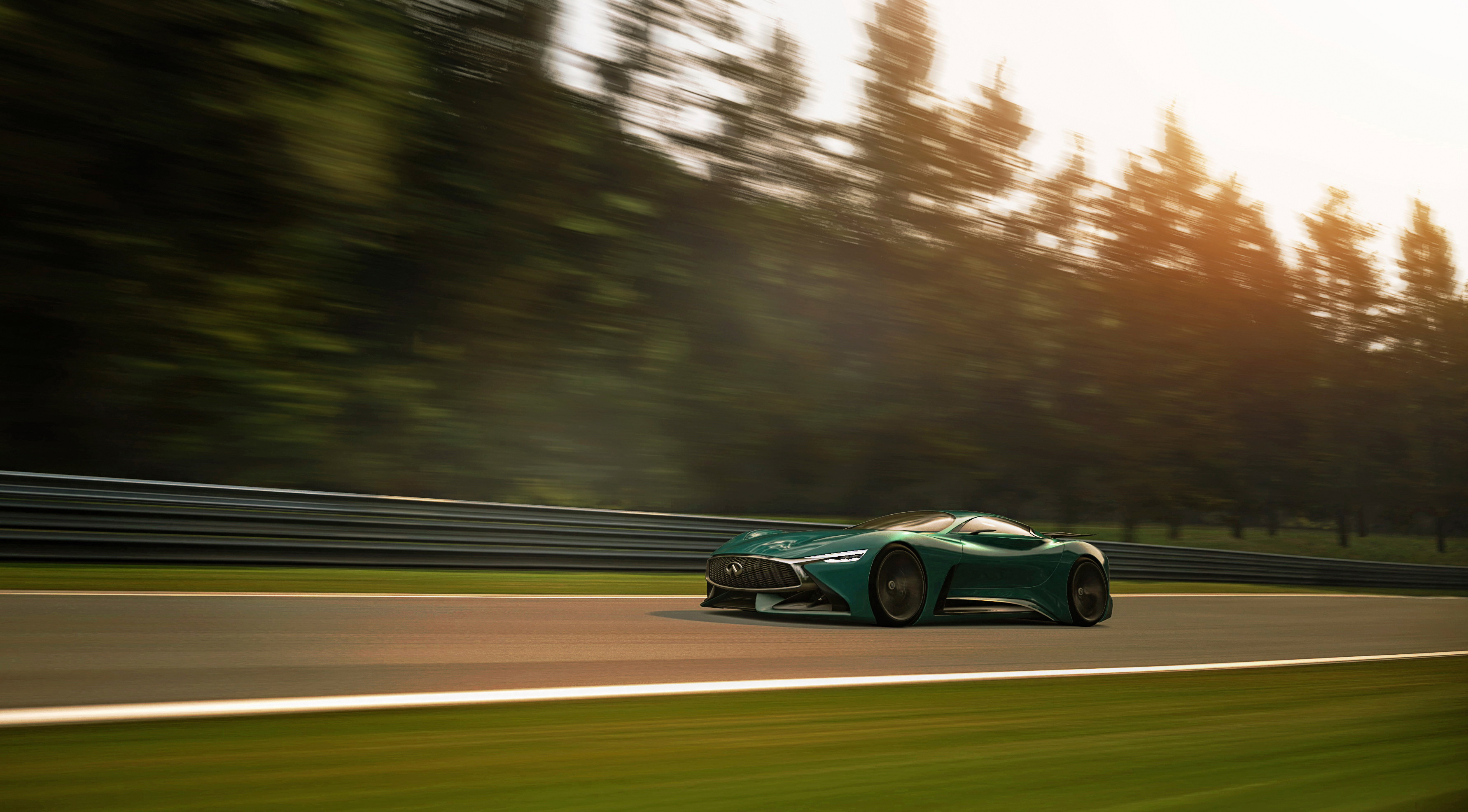 146018 download wallpaper Cars, Infiniti, Vision, Gran Turismo, Traffic, Movement, Speed screensavers and pictures for free