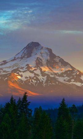 50968 télécharger le fond d'écran Nature, Montagne, Sommet, Retour Au Début, Arc En Ciel, Couvert De Neige, Snowbound, Brouillard - économiseurs d'écran et images gratuitement