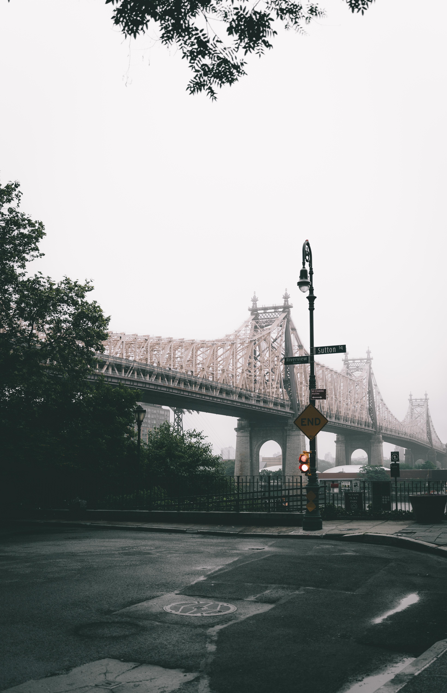 142600 Заставки и Обои Города на телефон. Скачать Мост, Город, Туман, Нью-Йорк, Сша, Города картинки бесплатно
