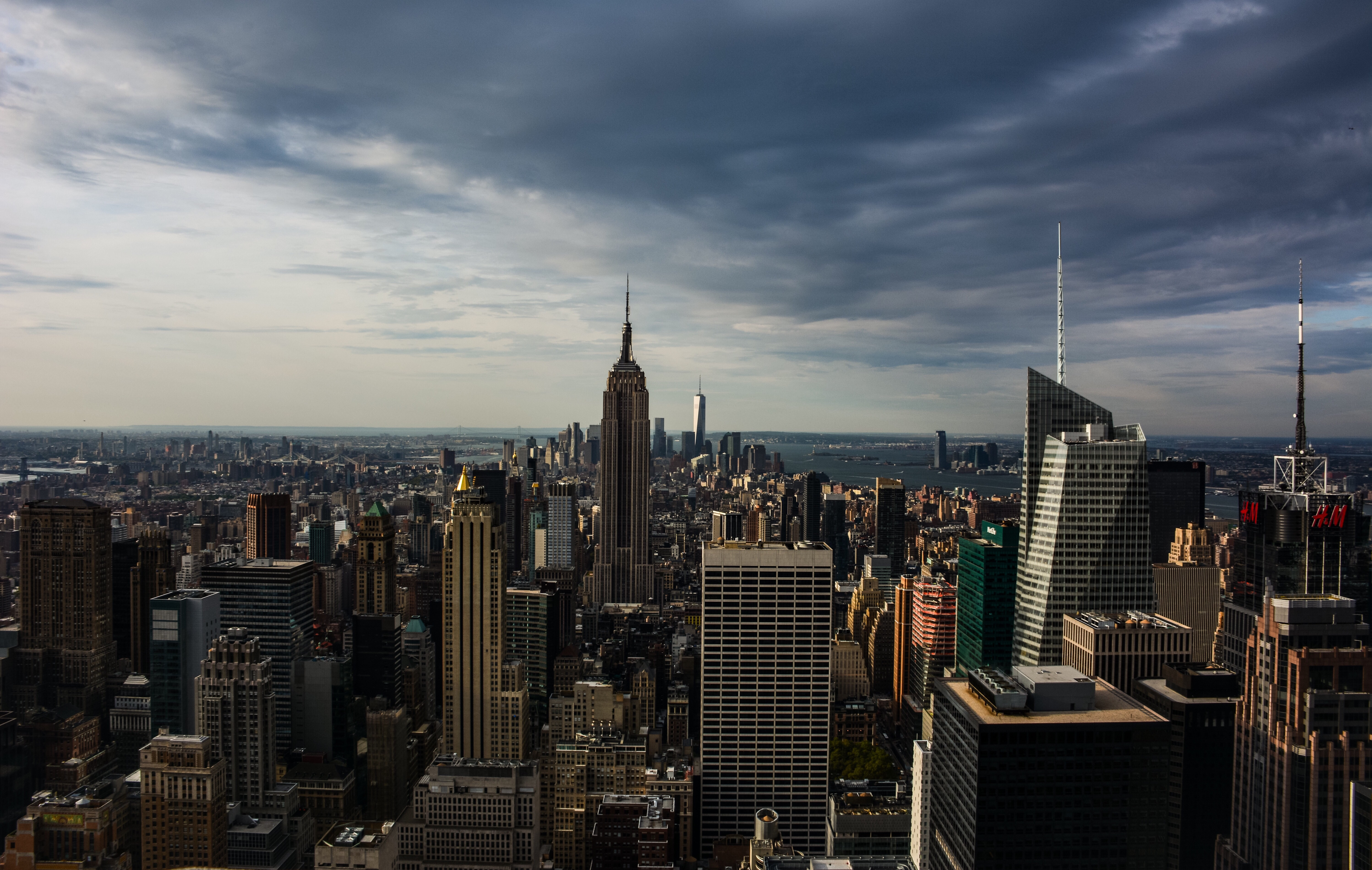 140159 Screensavers and Wallpapers Architecture for phone. Download Skyscrapers, View From Above, Building, Manhattan, New York, Usa, United States, Architecture, Cities pictures for free