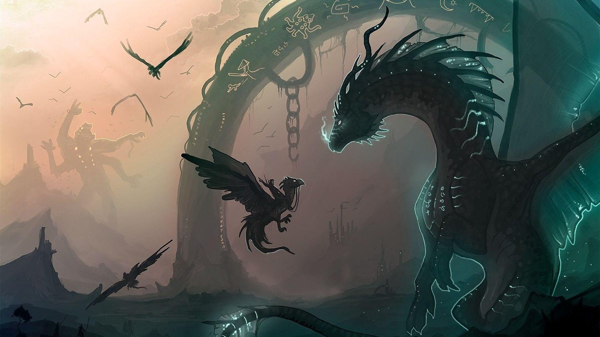 135468 Hintergrundbild herunterladen Drachen, Vögel, Fantasie, Junge, Der Drache, Joey, Kette - Bildschirmschoner und Bilder kostenlos