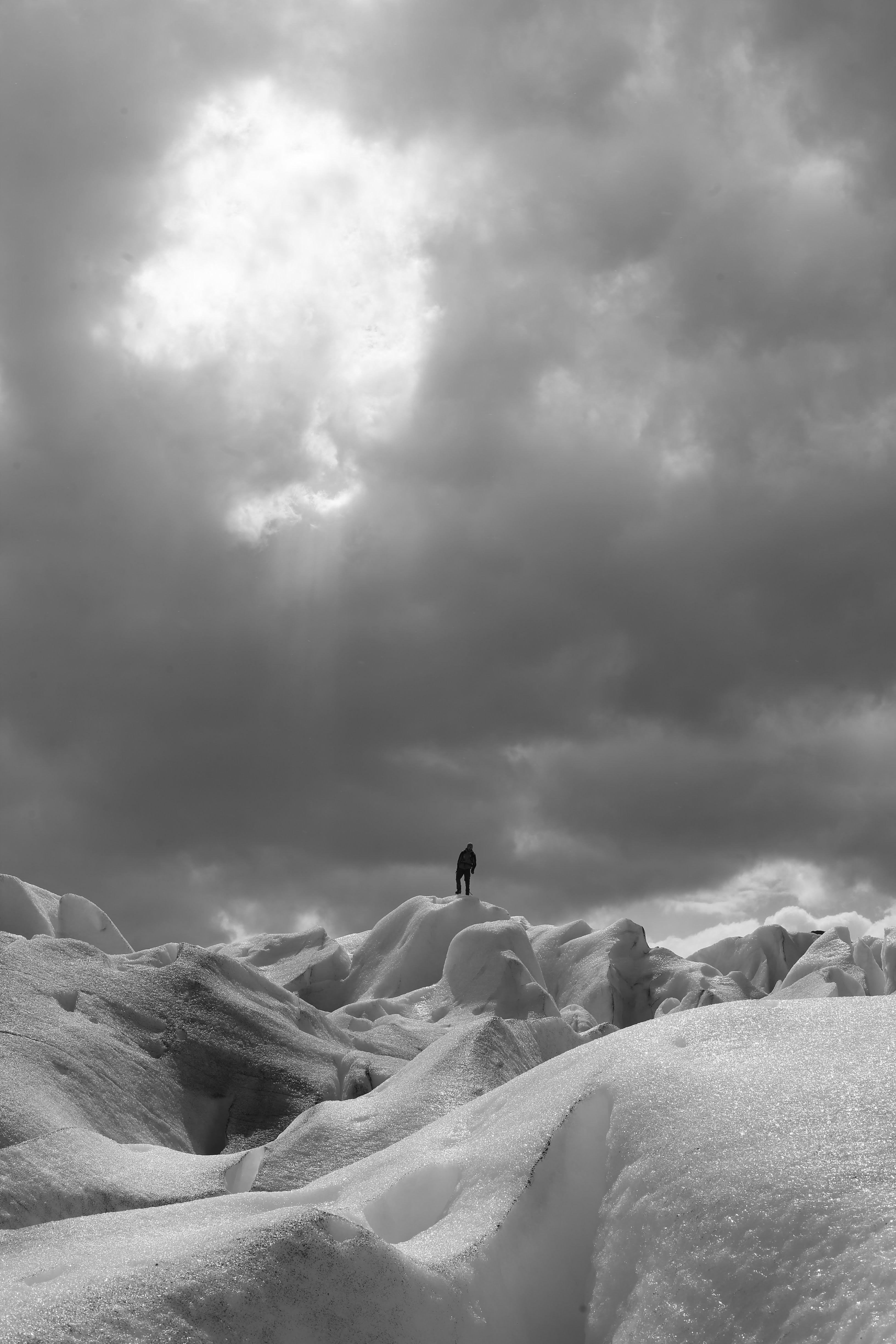 79438 Заставки и Обои Лед на телефон. Скачать Лед, Зима, Снег, Силуэт, Разное, Одиночество картинки бесплатно