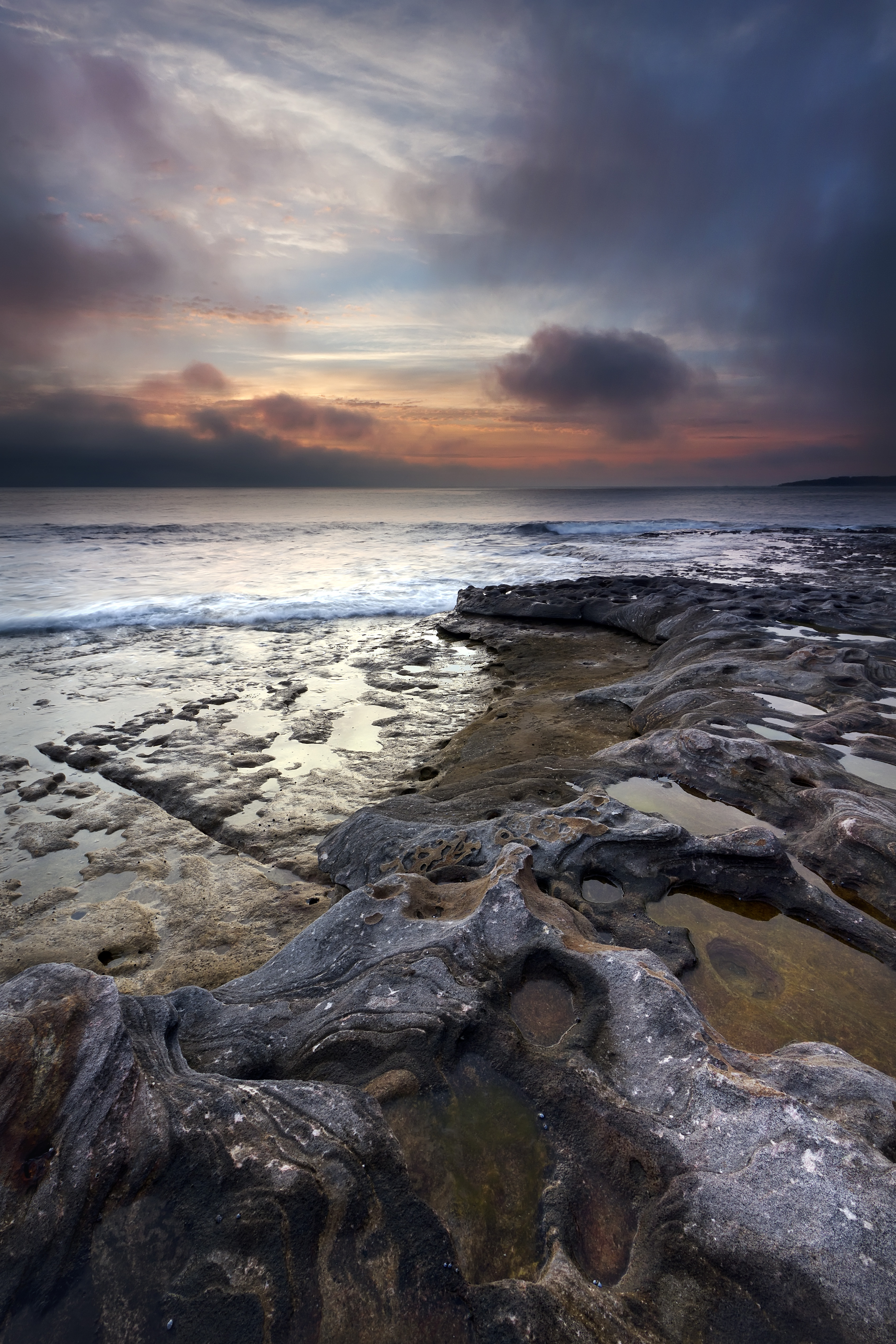 129401 download wallpaper Nature, Stones, Coast, Sea, Sky, Waves screensavers and pictures for free