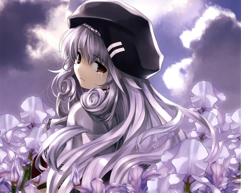 117442 descargar fondo de pantalla Anime, Niña, Muchacha, Tristeza, Una Lágrima, Lágrima, Sombrero: protectores de pantalla e imágenes gratis