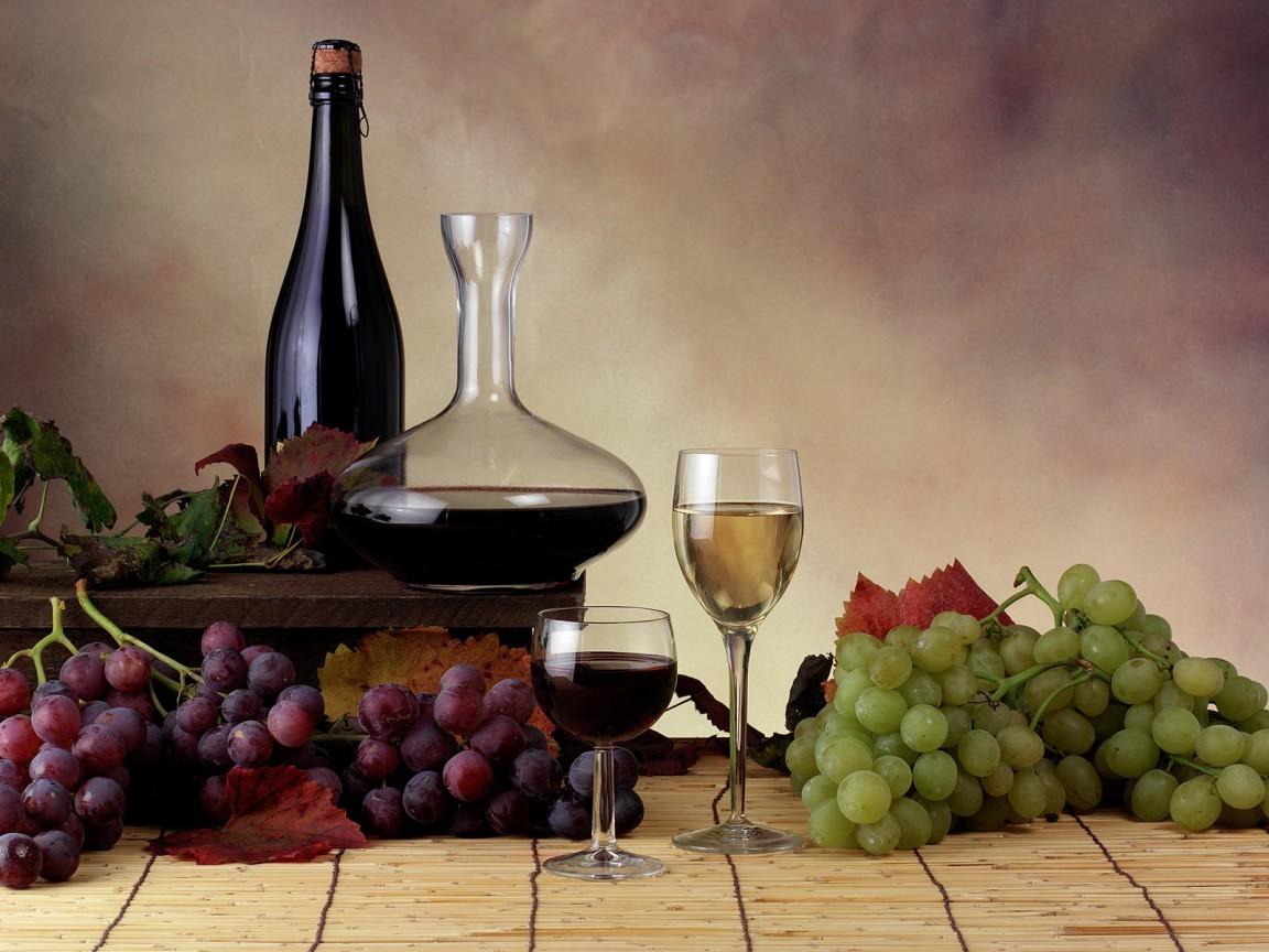 16254 скачать обои Еда, Виноград, Вино, Напитки - заставки и картинки бесплатно