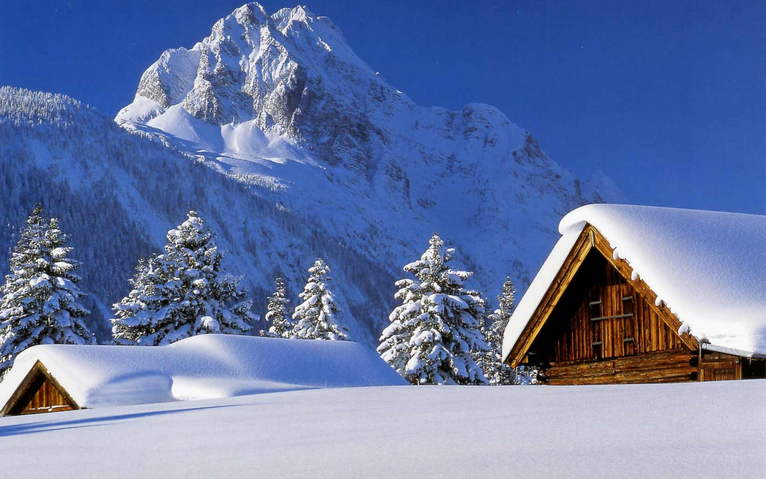46714 download wallpaper Landscape, Winter, Nature, Mountains, Snow screensavers and pictures for free
