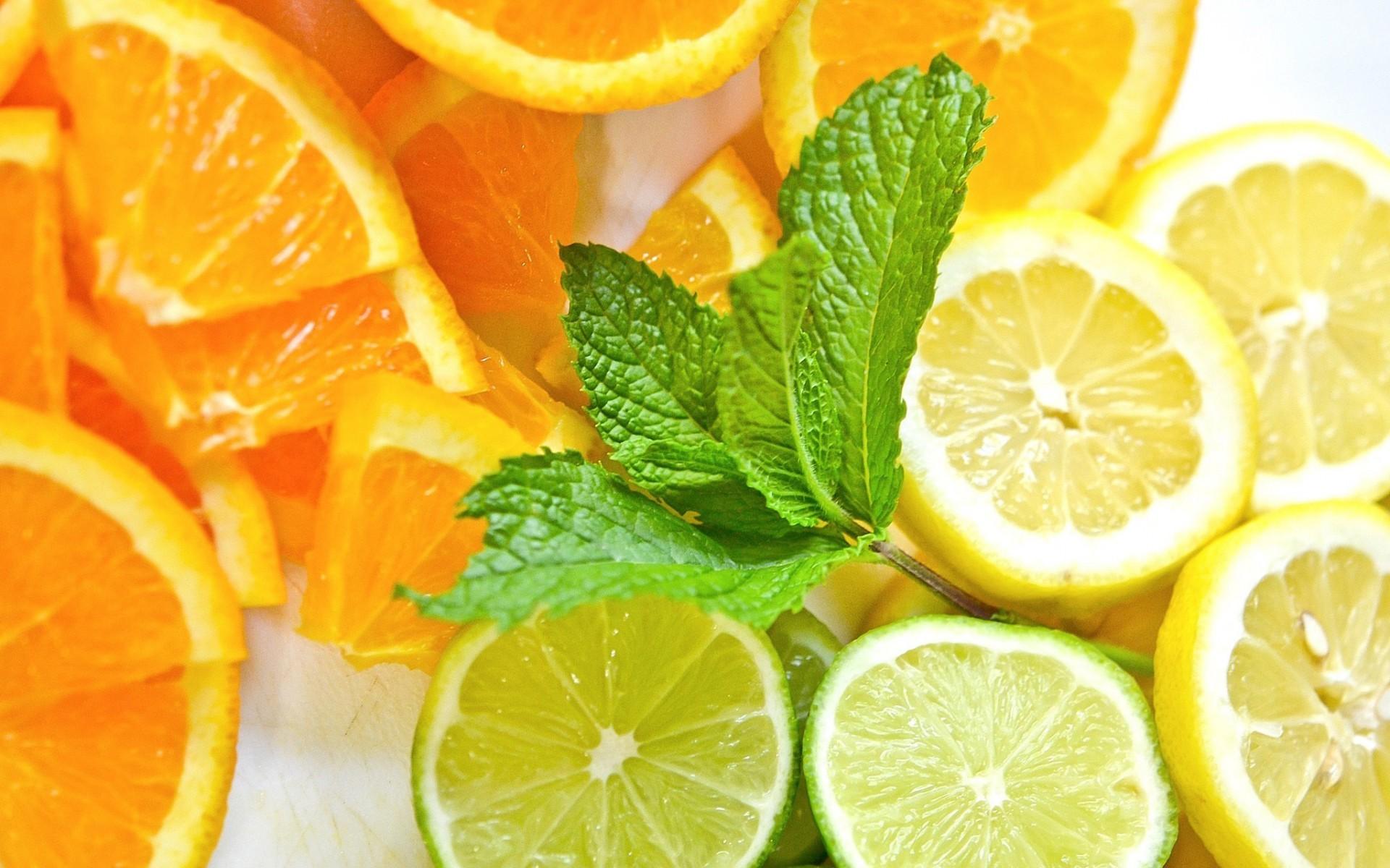 26300 скачать обои Фрукты, Лимоны, Фон, Еда, Апельсины - заставки и картинки бесплатно
