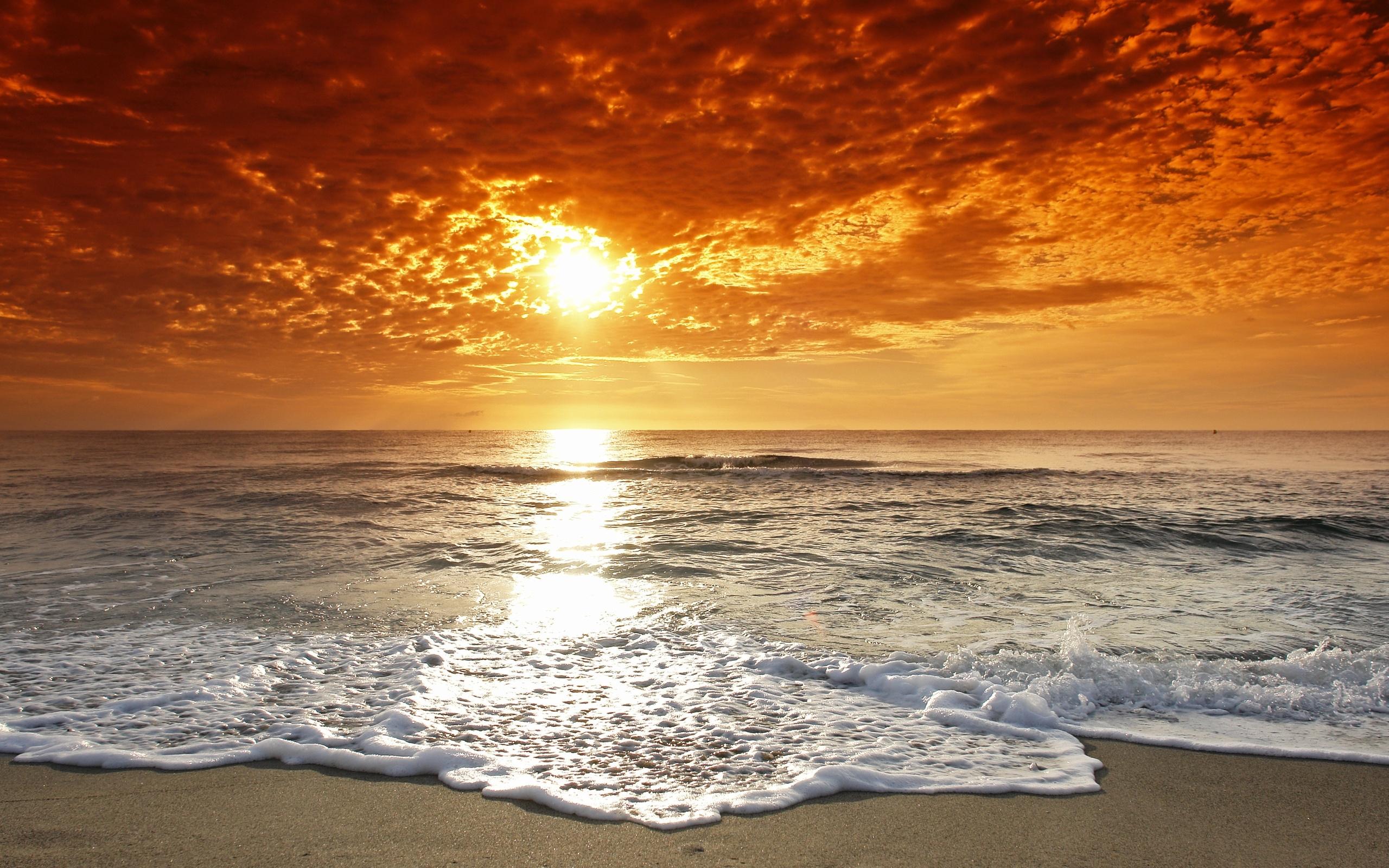 27575 скачать обои Пейзаж, Закат, Море, Волны, Пляж - заставки и картинки бесплатно