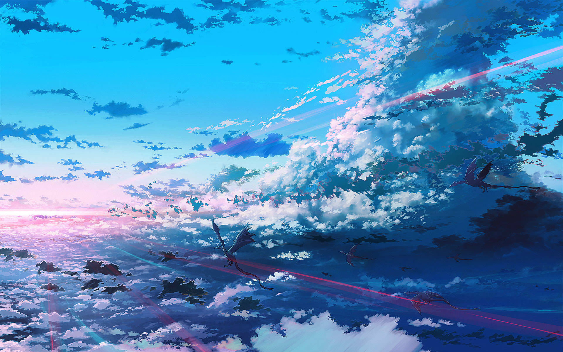 28017 Screensavers and Wallpapers Dragons for phone. Download Landscape, Fantasy, Sky, Dragons, Clouds pictures for free