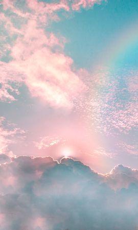 133240 télécharger le fond d'écran Nature, Nuages, Poreux, Arc En Ciel, Sky, Briller, Éclat, Poutres, Rayons - économiseurs d'écran et images gratuitement