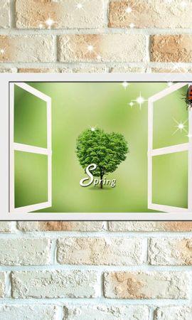 142417 скачать обои Разное, Цветок, Стенка, Божья Коровка, Открытки - заставки и картинки бесплатно