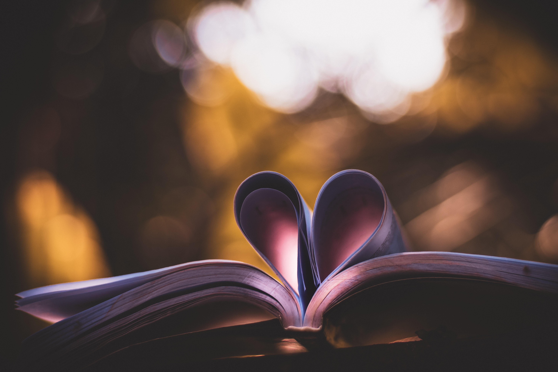 75118 Заставки и Обои Любовь на телефон. Скачать Книга, Страницы, Сердце, Любовь, Блики картинки бесплатно