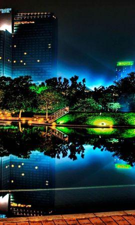 21683 descargar fondo de pantalla Paisaje, Ciudades, Ríos, Noche: protectores de pantalla e imágenes gratis