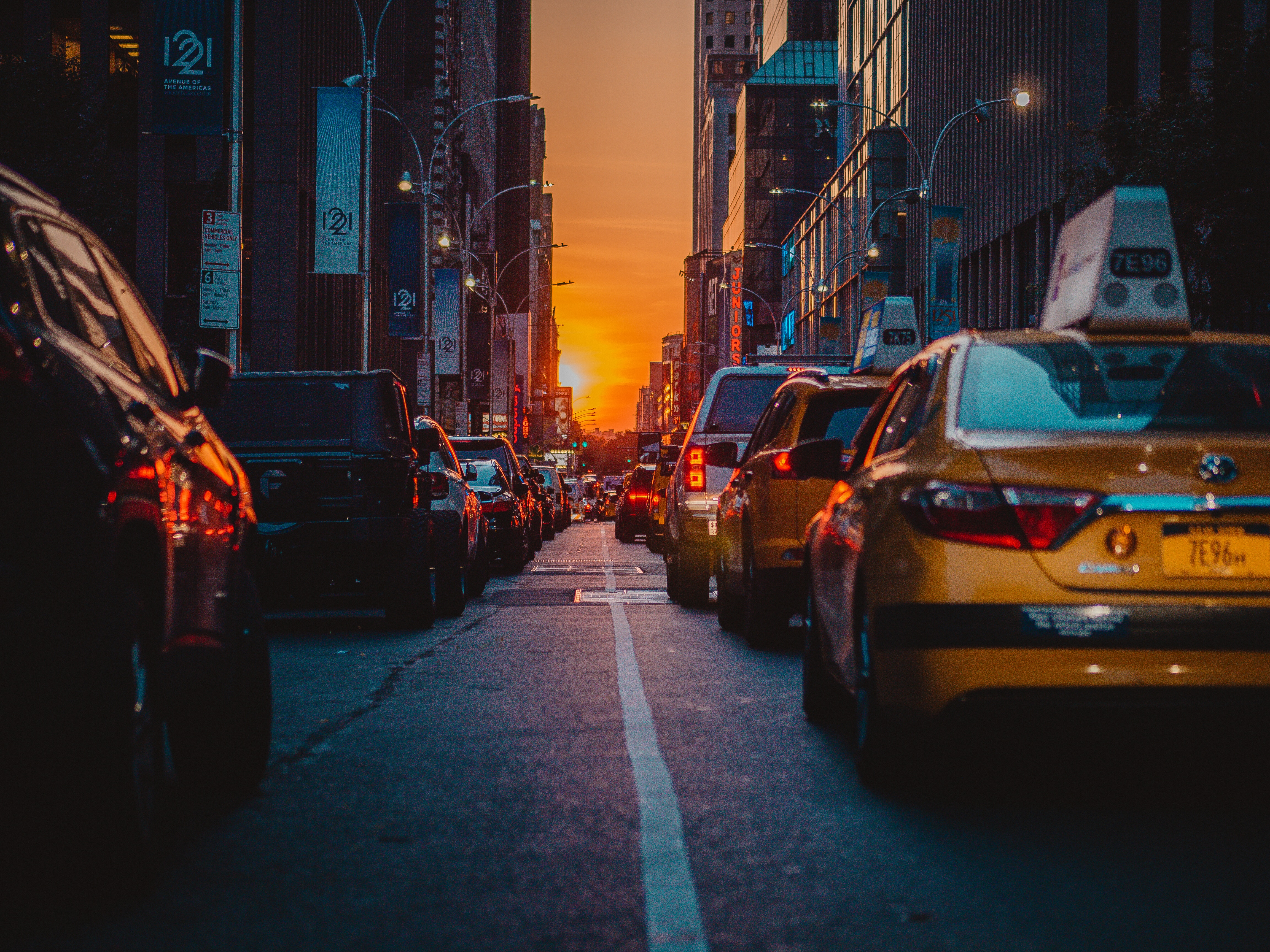 136739 download wallpaper Traffic, Cars, City, New York, Usa, United States, Cities screensavers and pictures for free