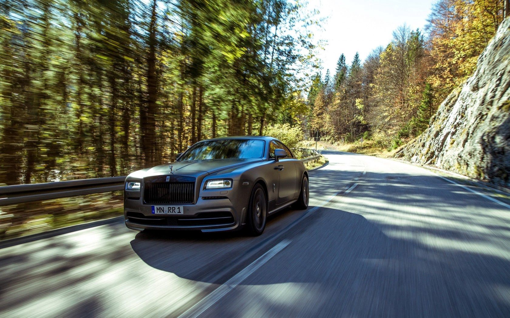 124368 download wallpaper Rolls-Royce, Cars, Traffic, Movement, Speed, Wraith, Spofec screensavers and pictures for free