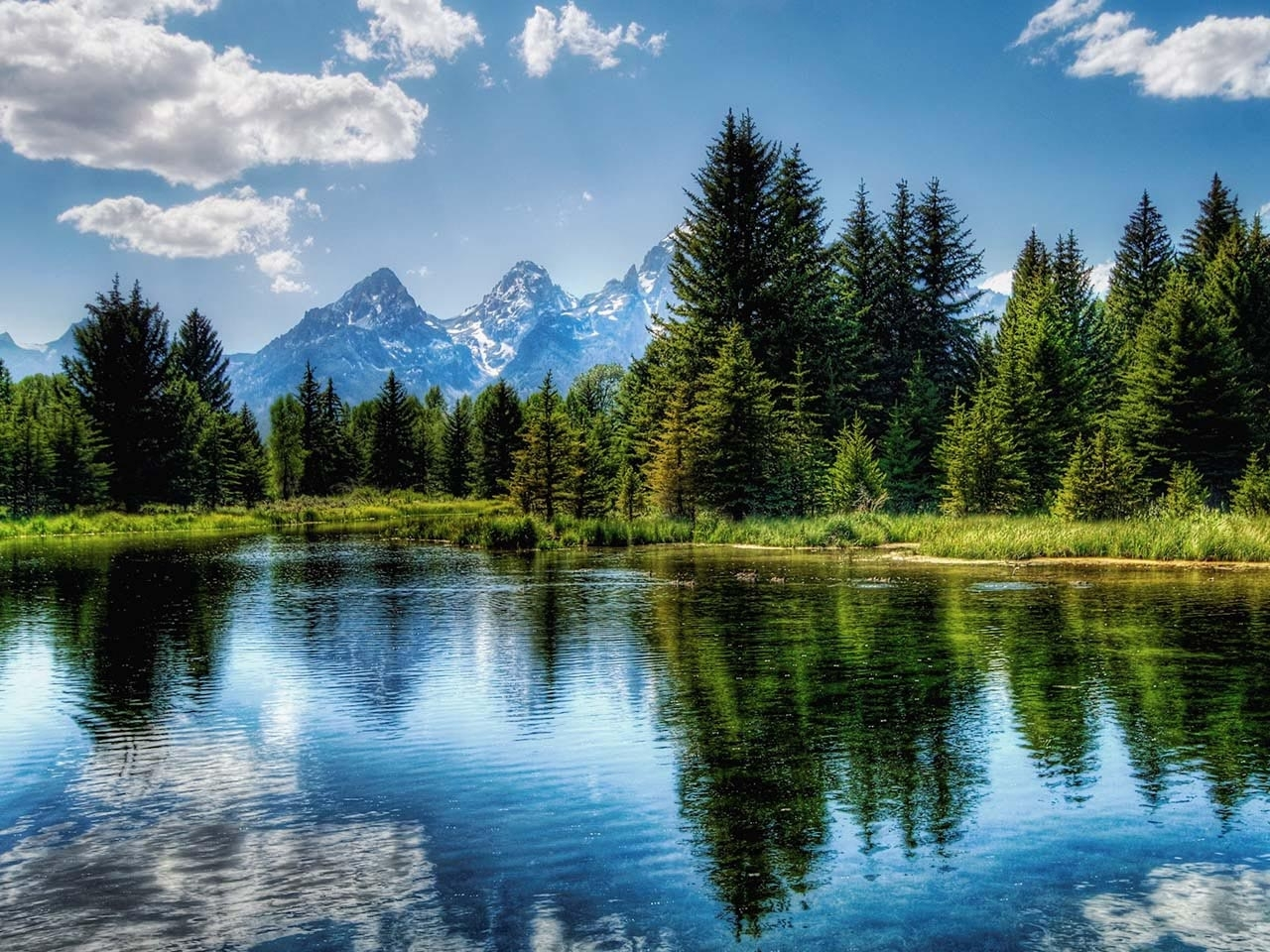 31559 download wallpaper Landscape, Rivers, Mountains screensavers and pictures for free