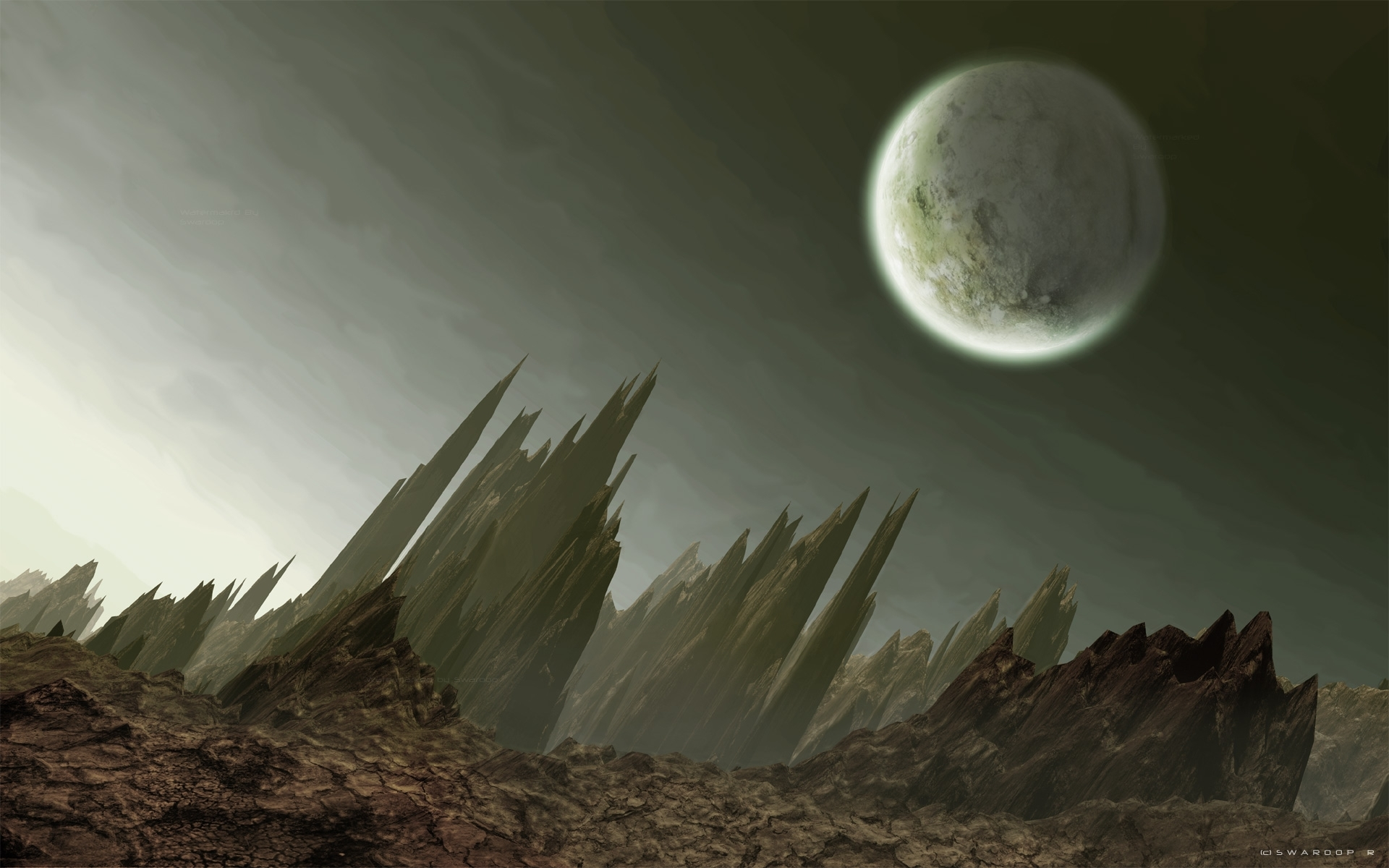1497 download wallpaper Landscape, Art, Planets screensavers and pictures for free