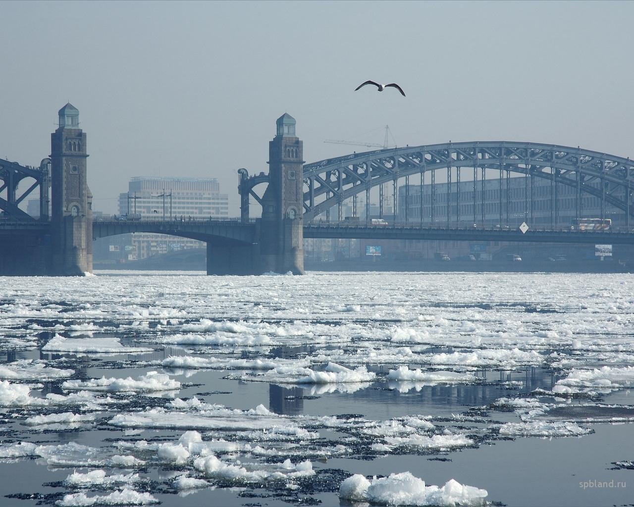 5891 скачать обои Пейзаж, Города, Зима, Река, Мосты - заставки и картинки бесплатно