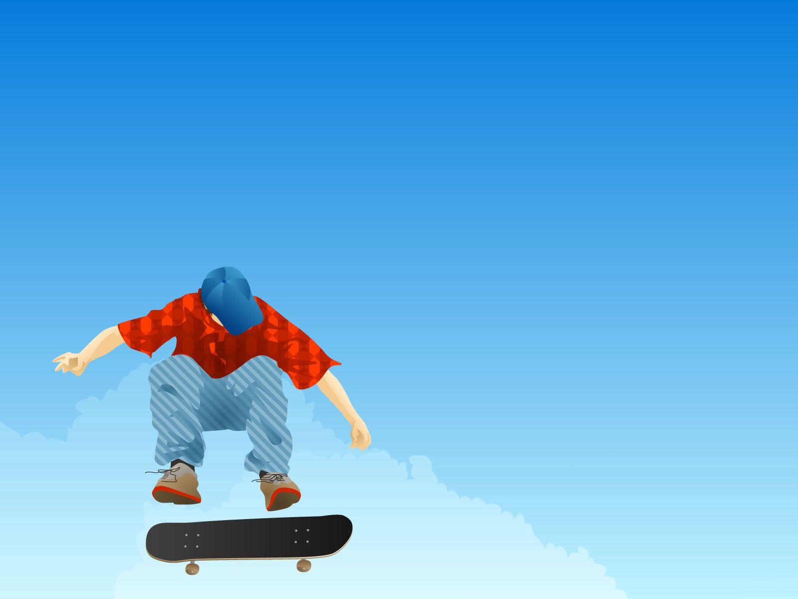 138104 скачать обои Вектор, Парень, Скейтборд, Прыжок, Кепка, Одежда - заставки и картинки бесплатно