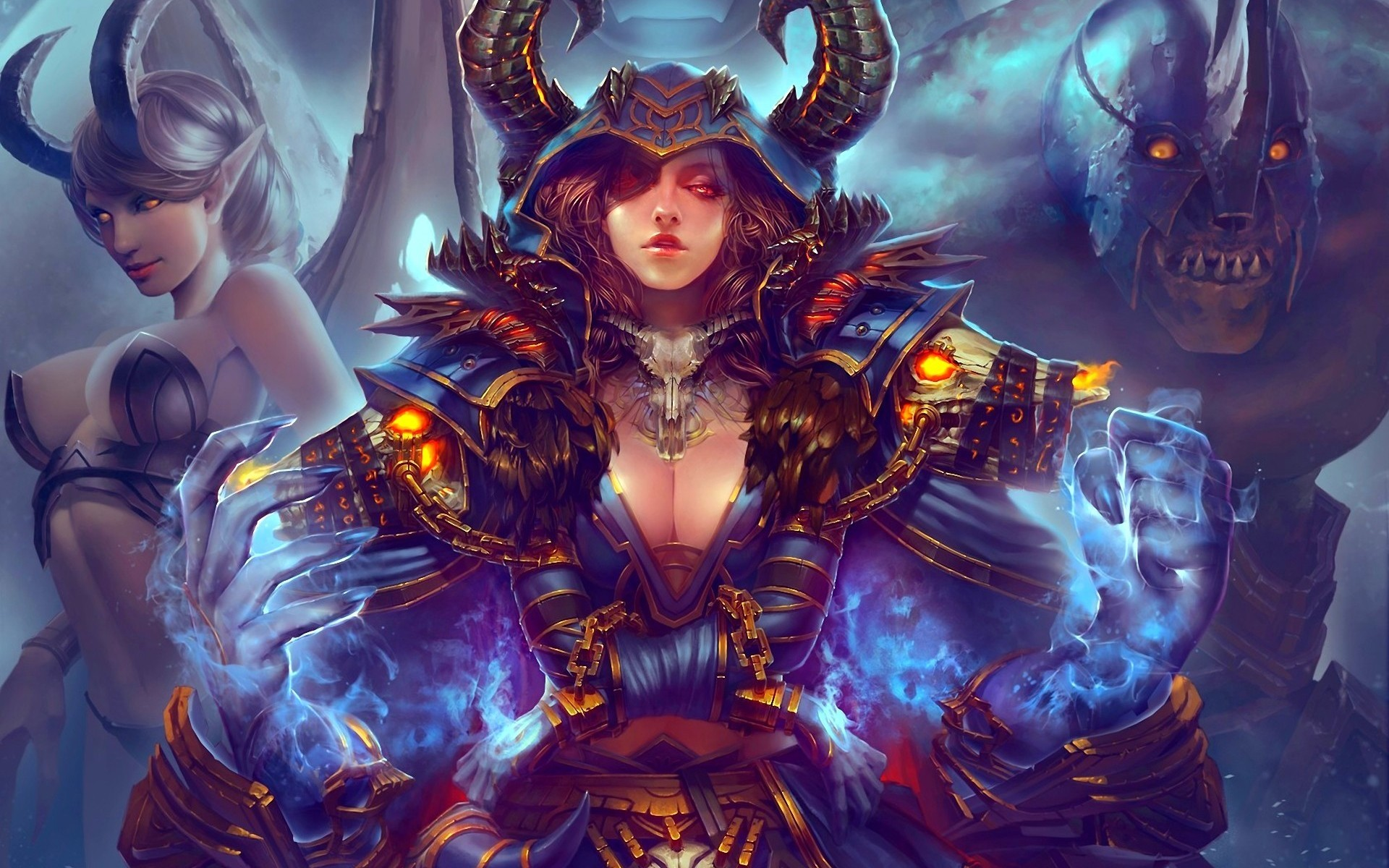 29272 Screensavers and Wallpapers Demons for phone. Download Girls, Fantasy, Demons pictures for free