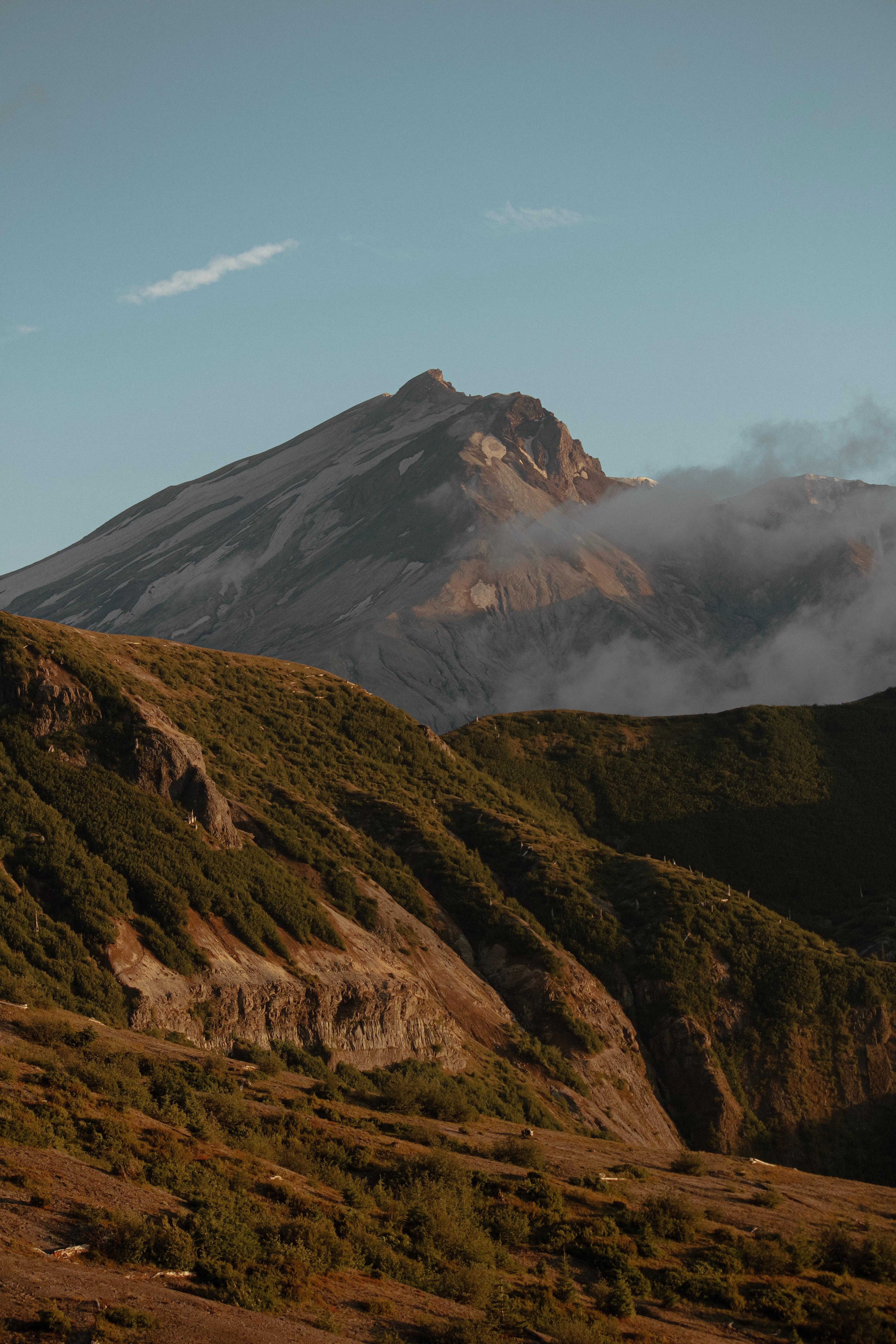 85635 免費下載壁紙 性质, 山, 戈拉, 顶点, 坡, 斜坡, 云, 云端, 景观 屏保和圖片