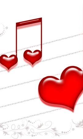20459 télécharger le fond d'écran Musique, Fêtes, Contexte, Cœurs, Amour, Saint Valentin - économiseurs d'écran et images gratuitement