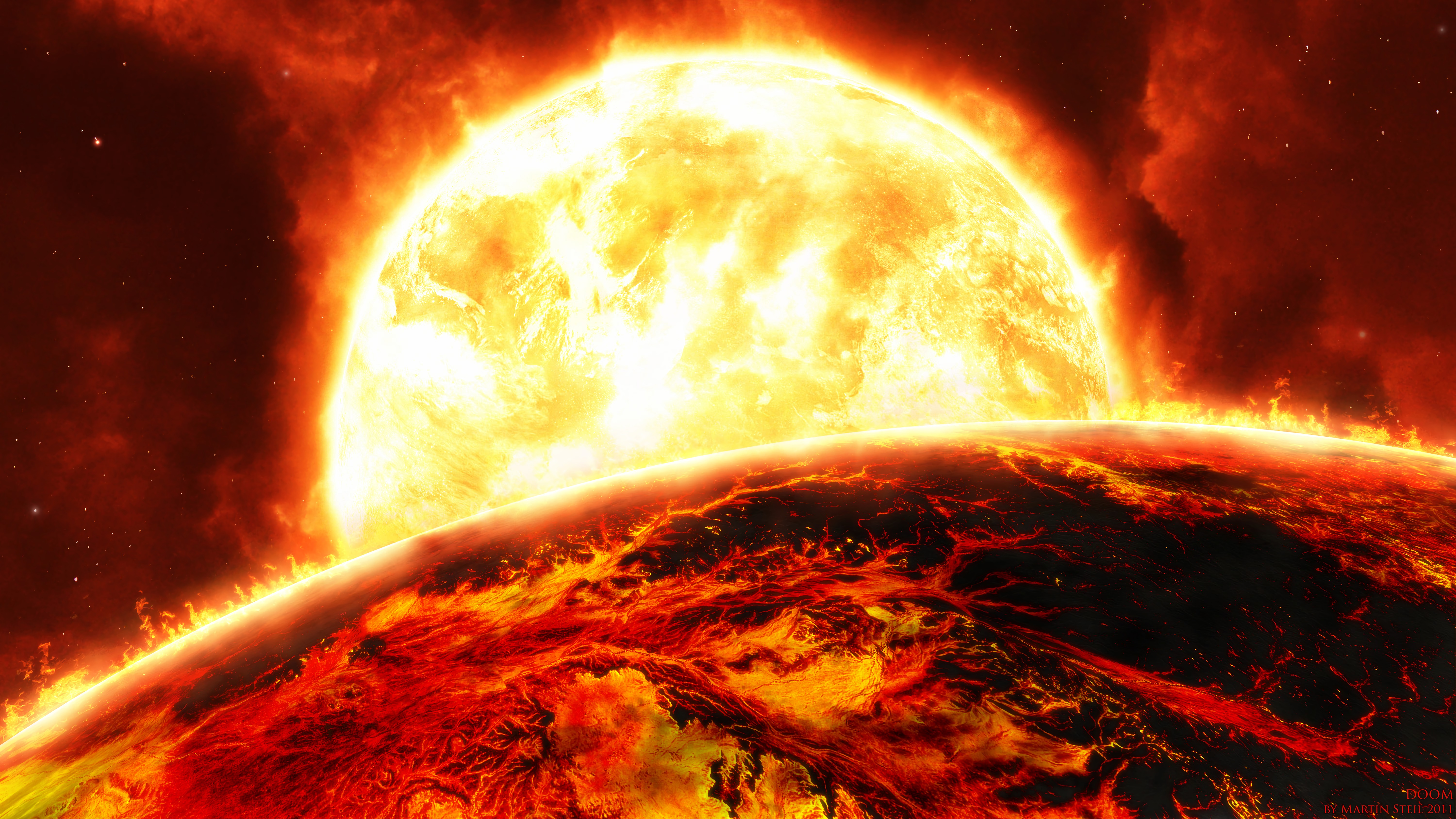 155816 download wallpaper Universe, Fire, Sun, Bright, Flame, Planet screensavers and pictures for free