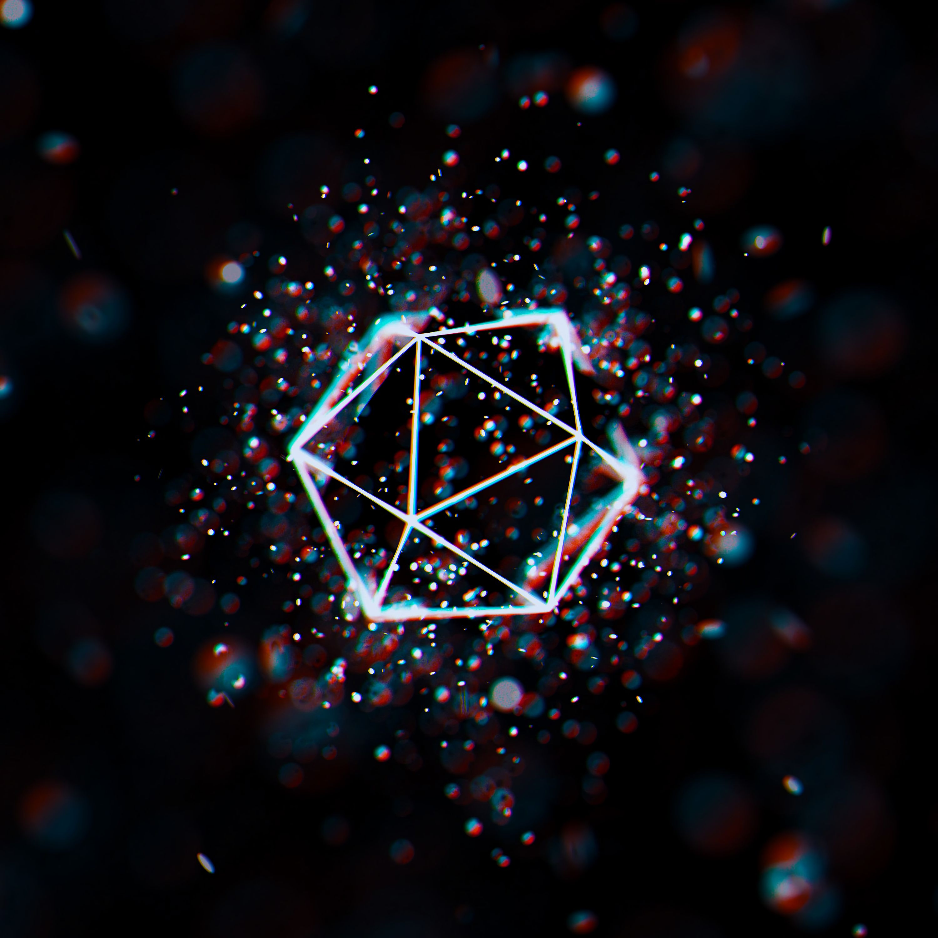 116661 download wallpaper Abstract, Glare, Grid, Space, Geometric, Polygon screensavers and pictures for free