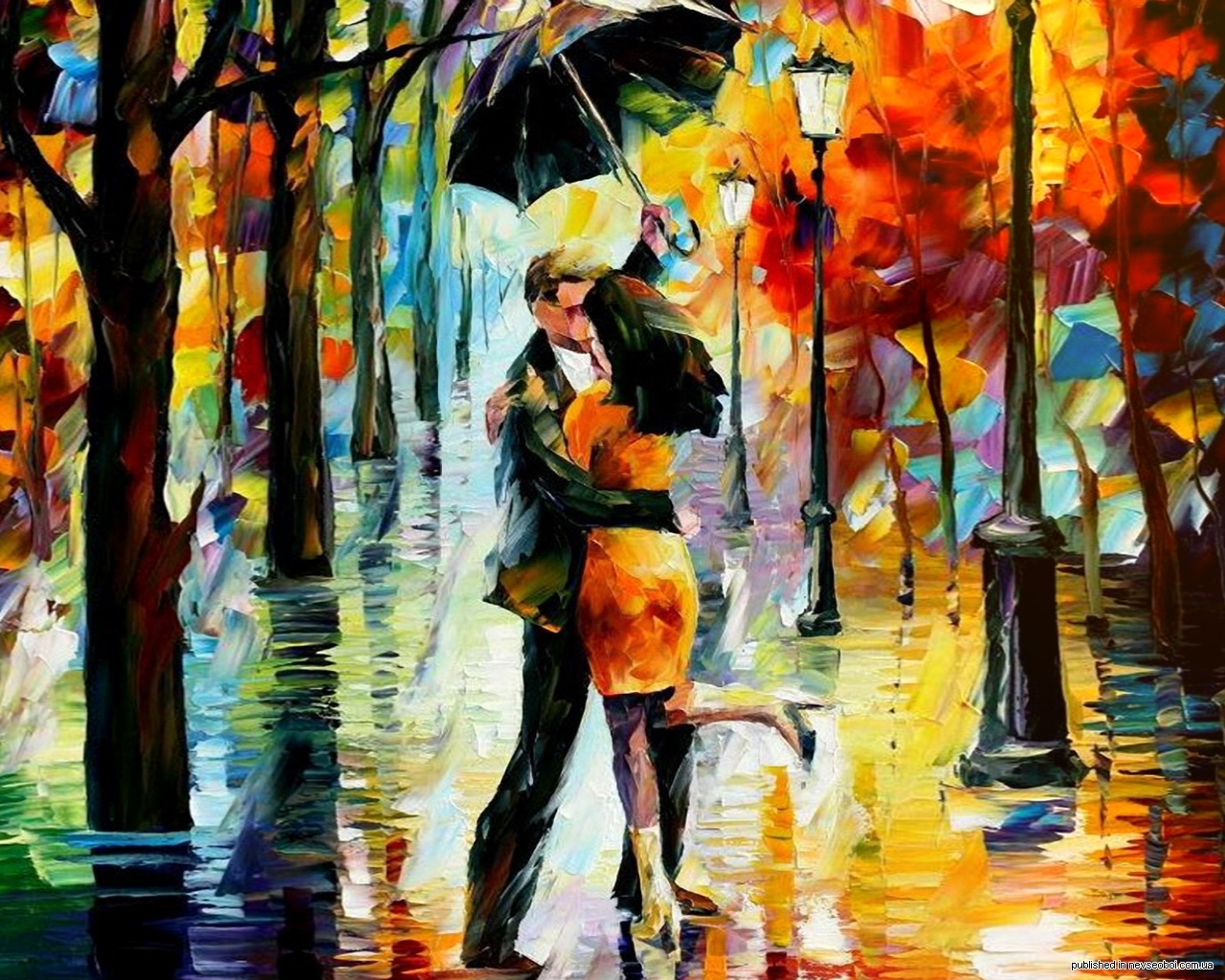 15127 download wallpaper Pictures, People, Autumn, Love, Friendship, Paintings screensavers and pictures for free