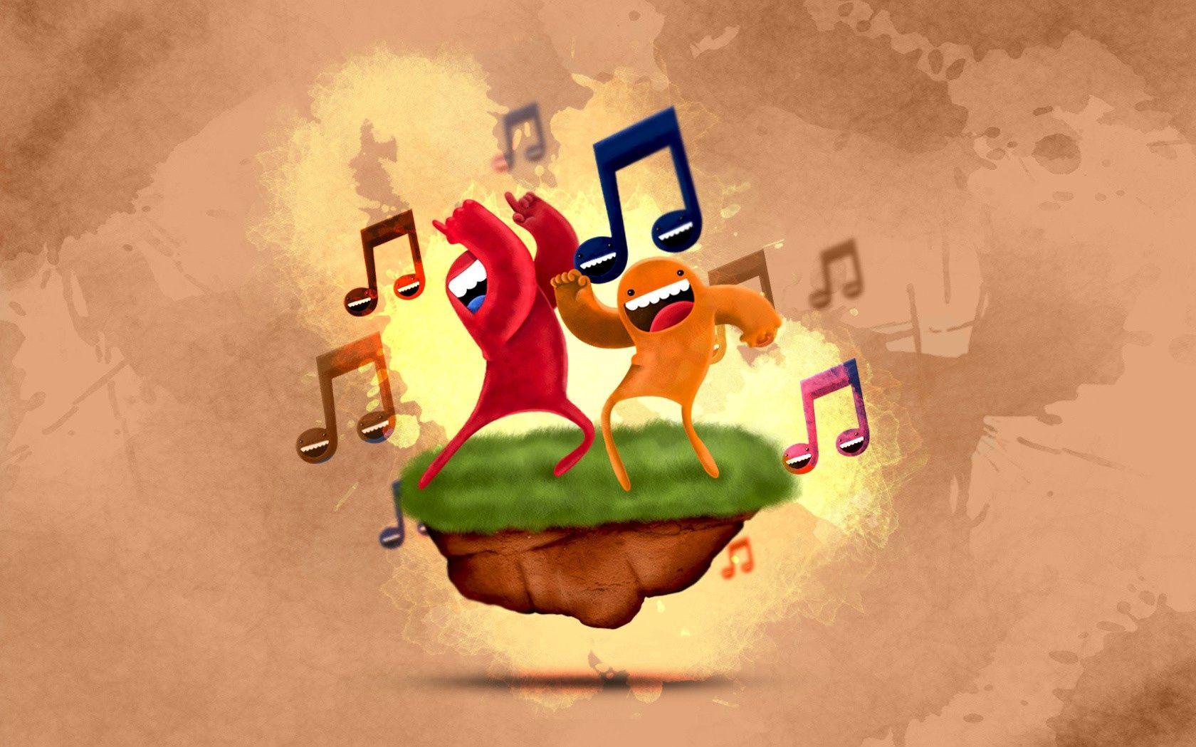 91112 Hintergrundbild herunterladen Musik, Grass, Kunst, Mehrfarbig, Motley, Die Insel, Insel, Anmerkungen, Tanzen, Tanz - Bildschirmschoner und Bilder kostenlos